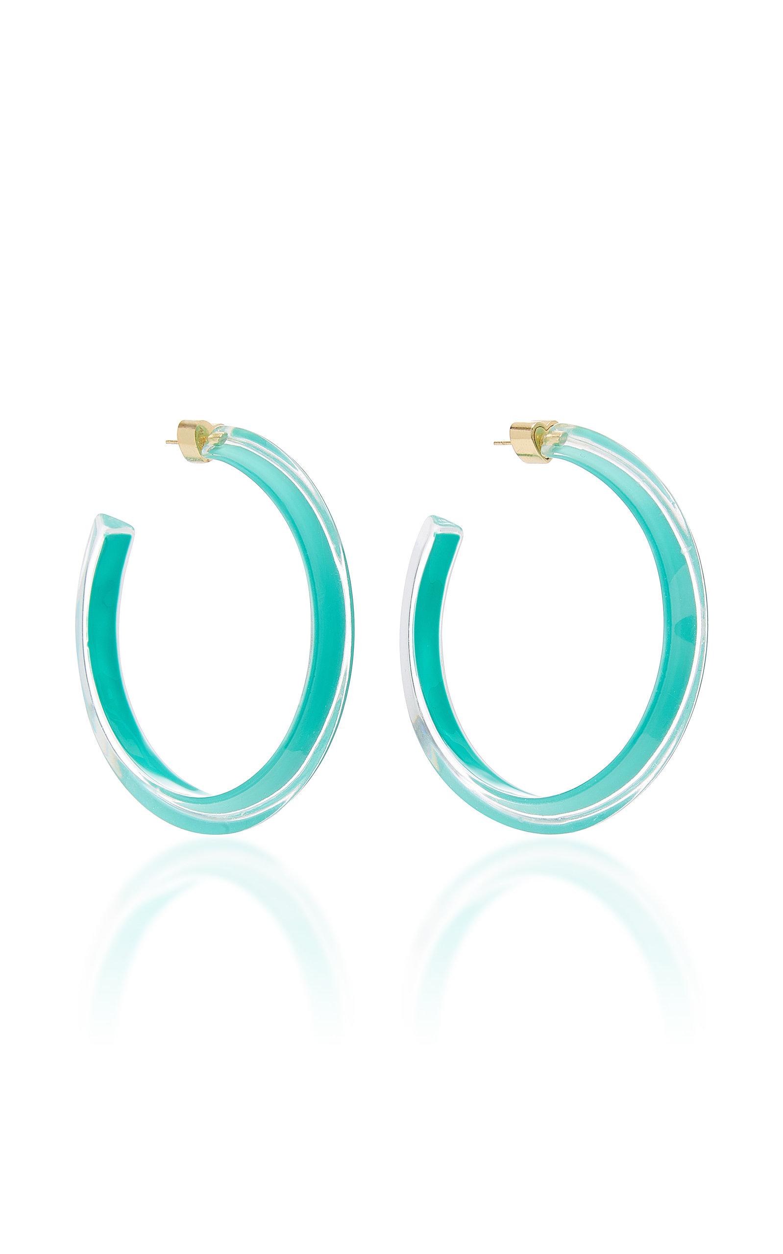 23282fed58687 Medium Jelly Lucite Hoop Earrings