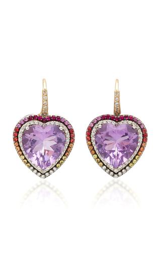 ELE KARELA   Ele Karela Amethyst Heart Earrings   Goxip
