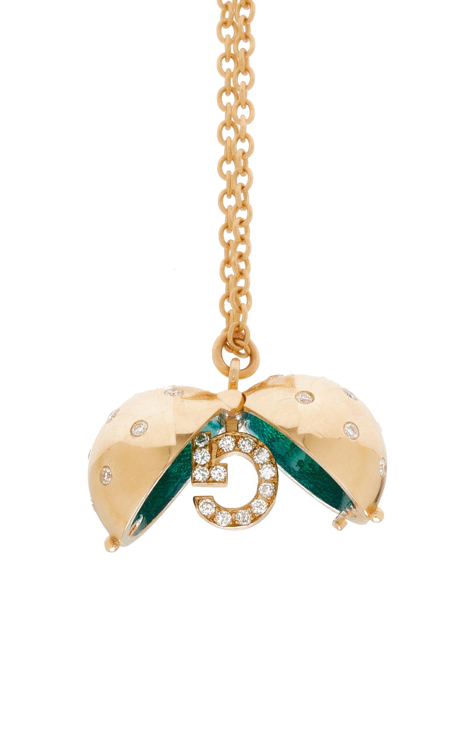 Custom Diamond Sphere with Emerald Necklace