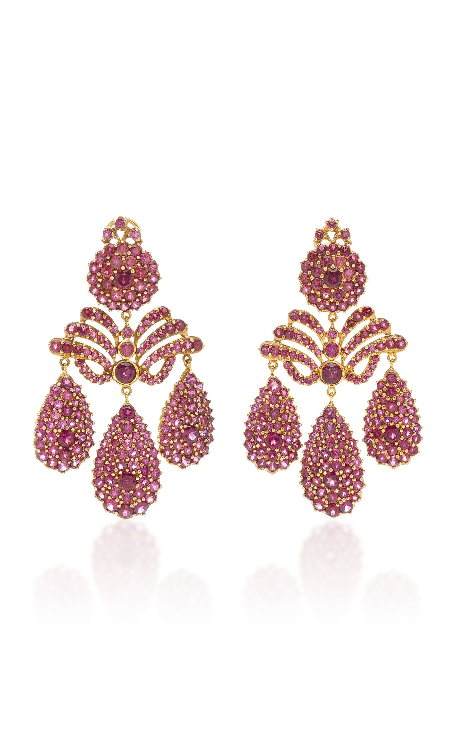 SYLVIE CORBELIN ONE-OF-A-KIND MARQUISE PALACE EARRINGS
