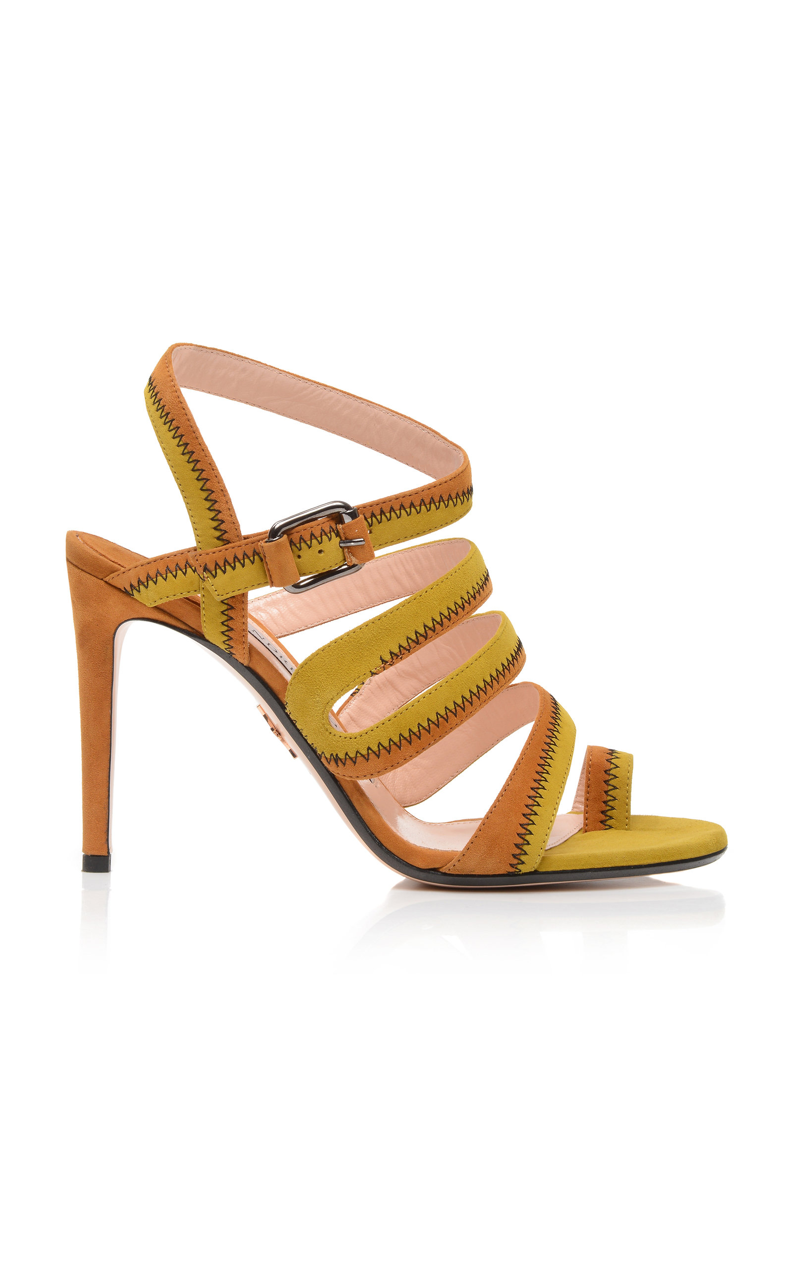 ANDREA GOMEZ Desy Strap Sandal in Gold