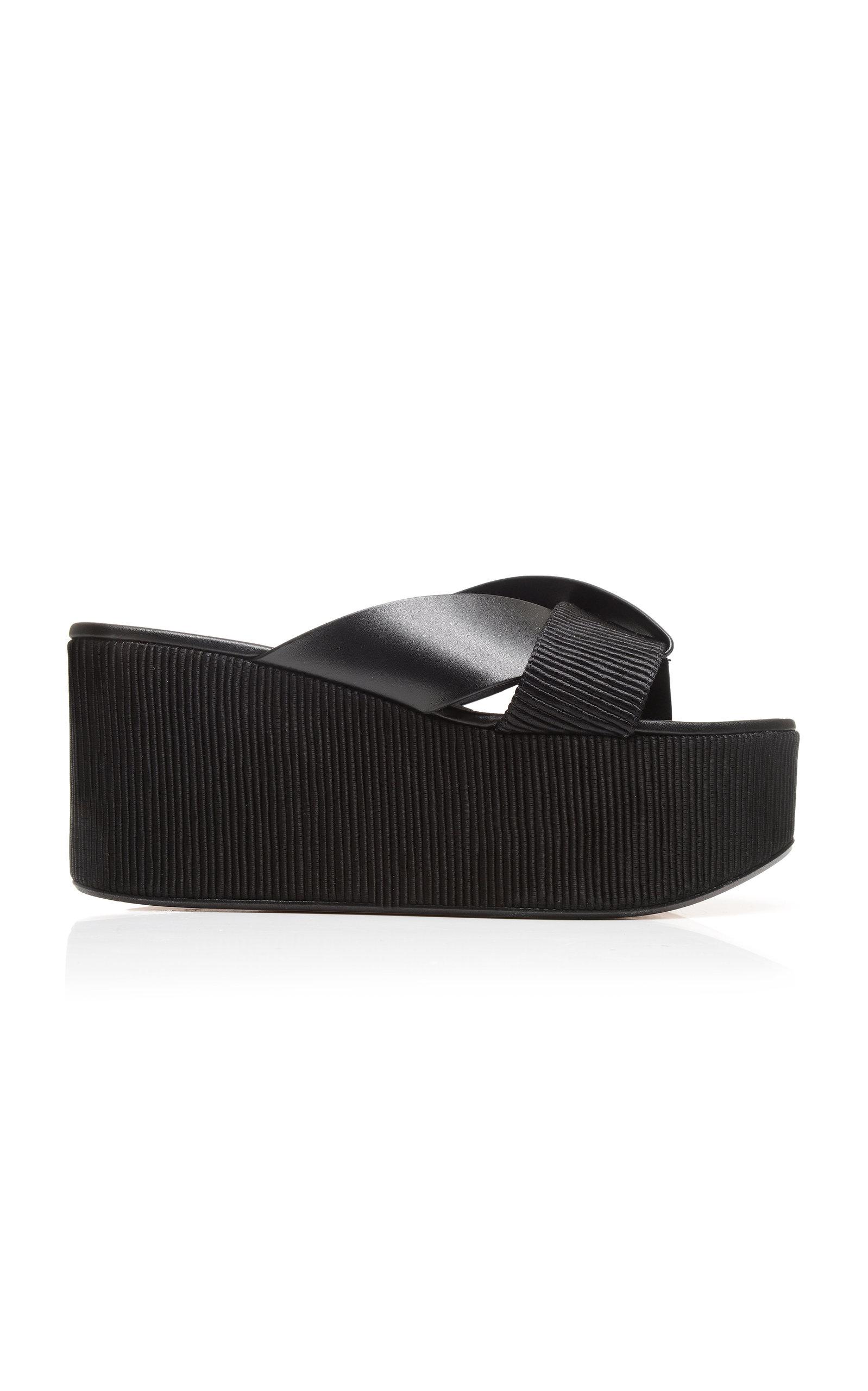 ANDREA GOMEZ Elaria Platform Sandal in Black