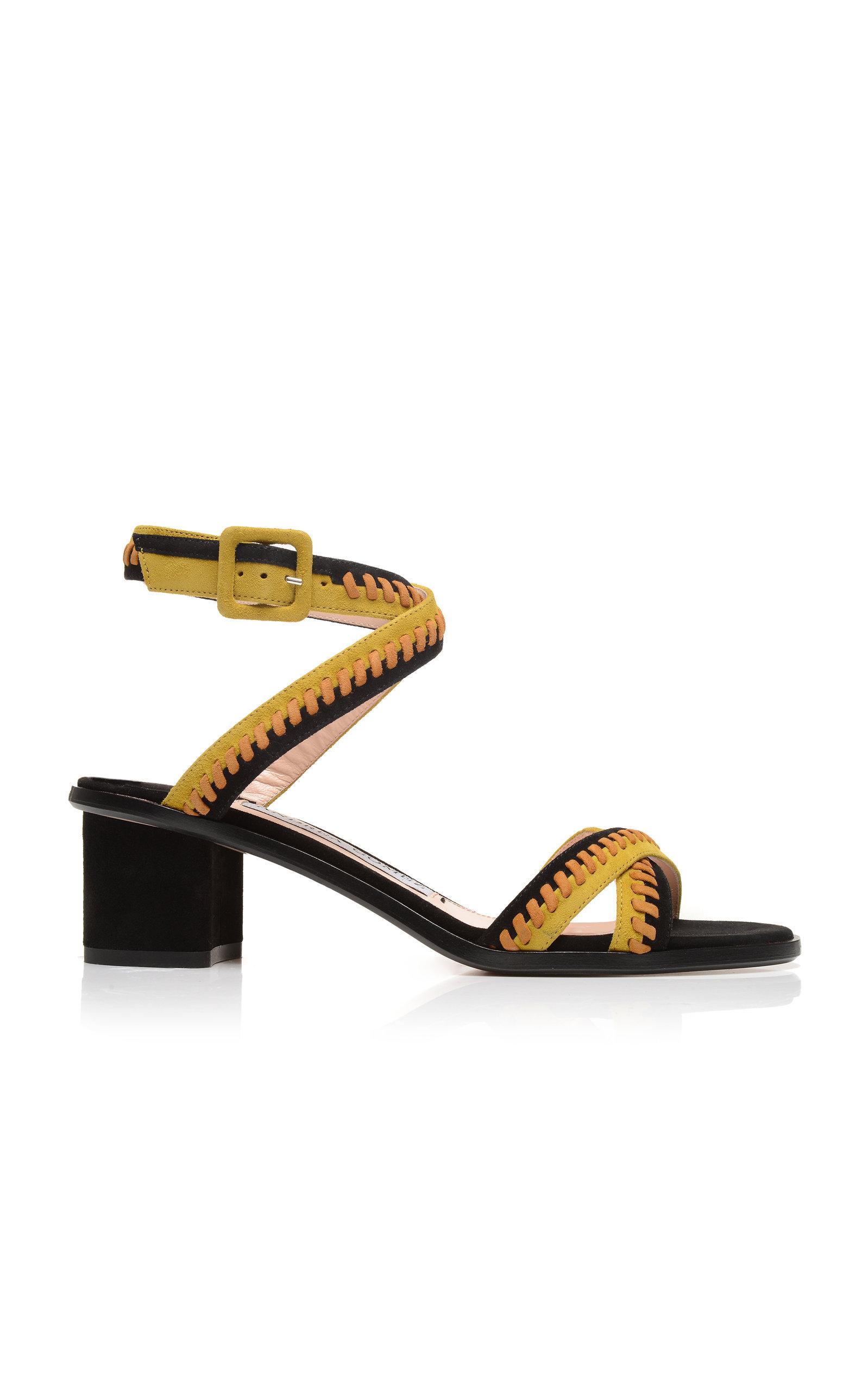 ANDREA GOMEZ Bea Block Sandal in Yellow