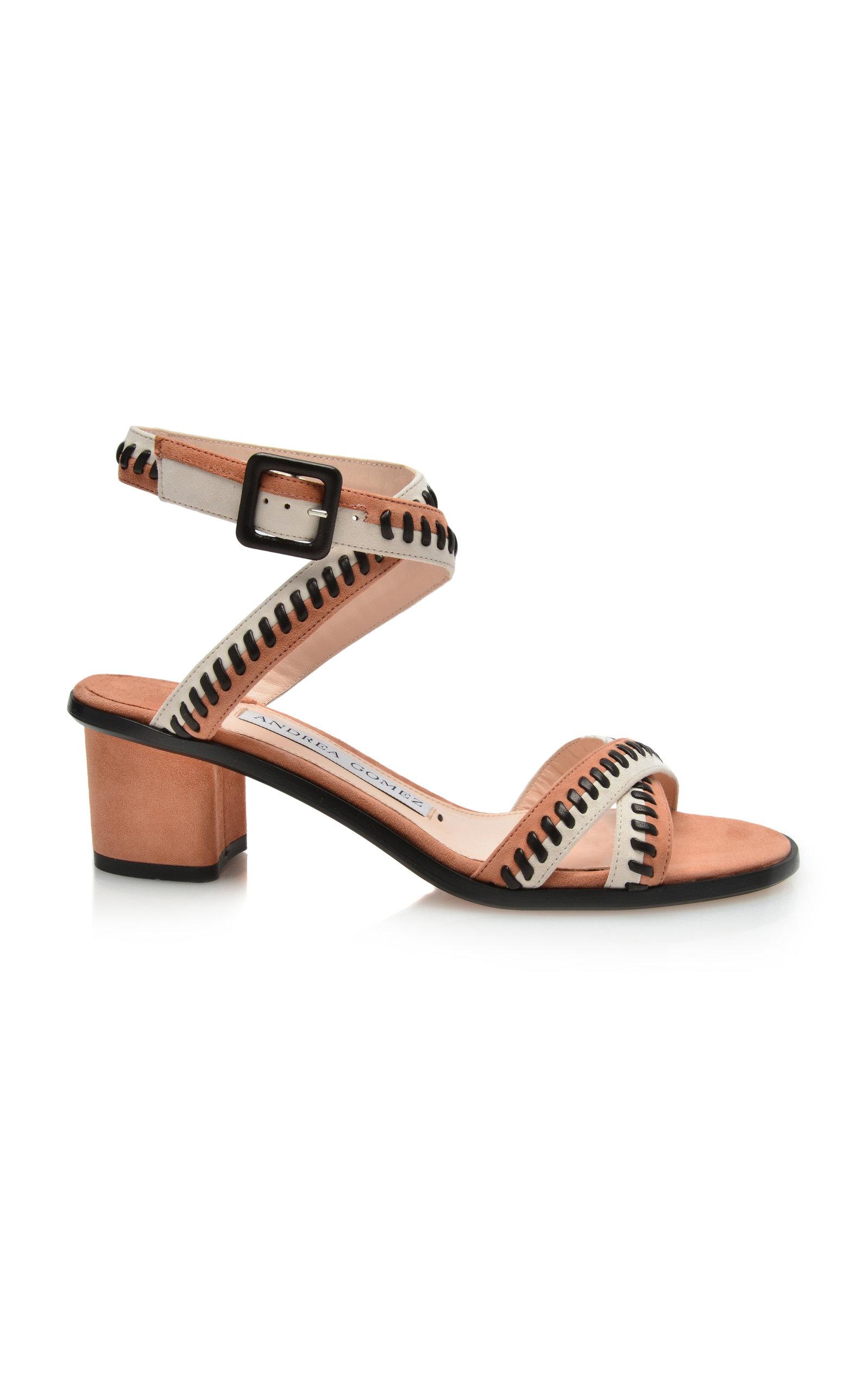 ANDREA GOMEZ Bea Block Sandal in Pink