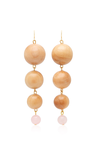 The Arlo Gold-Plated Lapis and Shedua Wood Earrings Sophie Monet 8nYmCcmWy