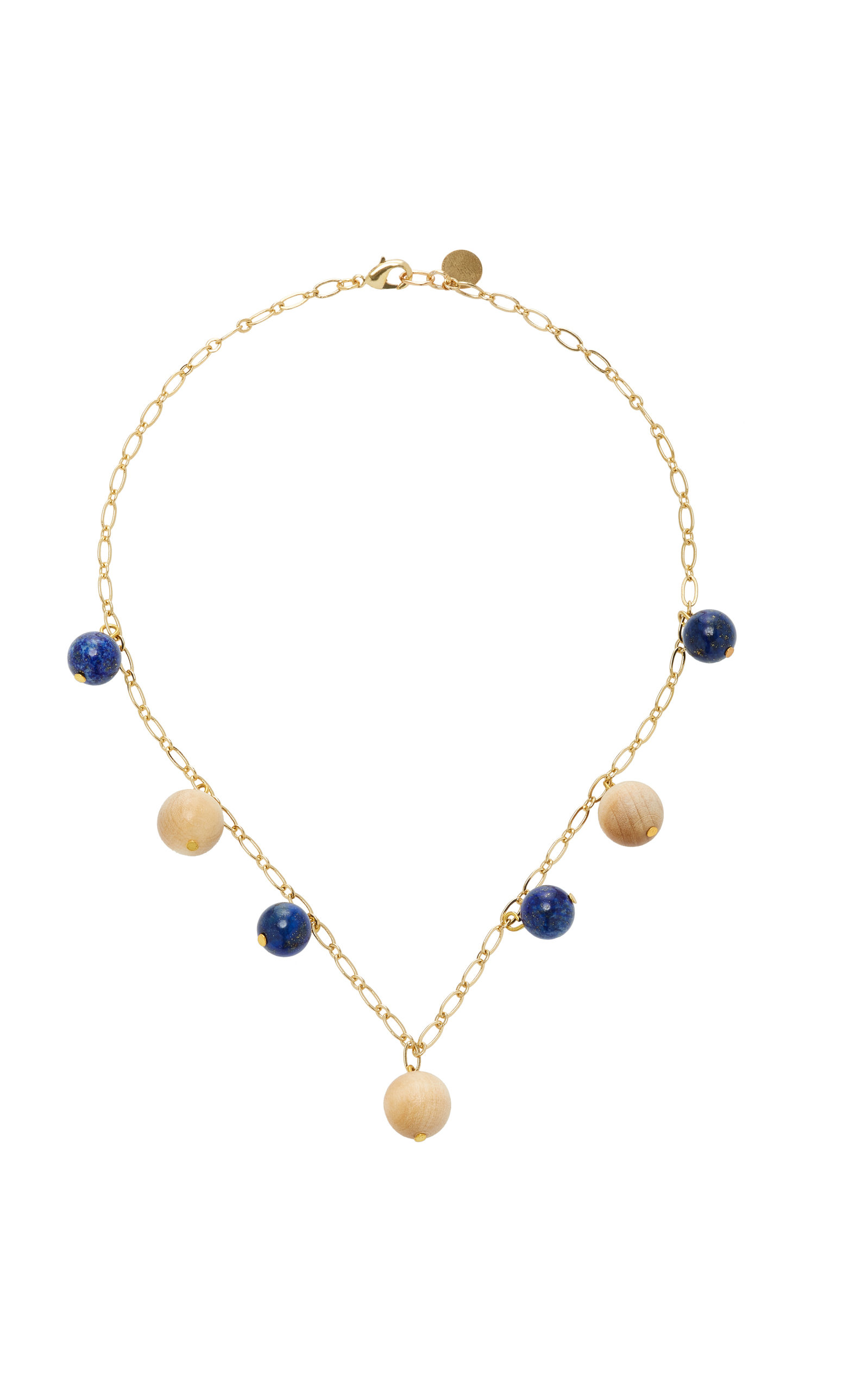 SOPHIE MONET THE LUNA GOLD-PLATED LAPIS AND PINE NECKLACE