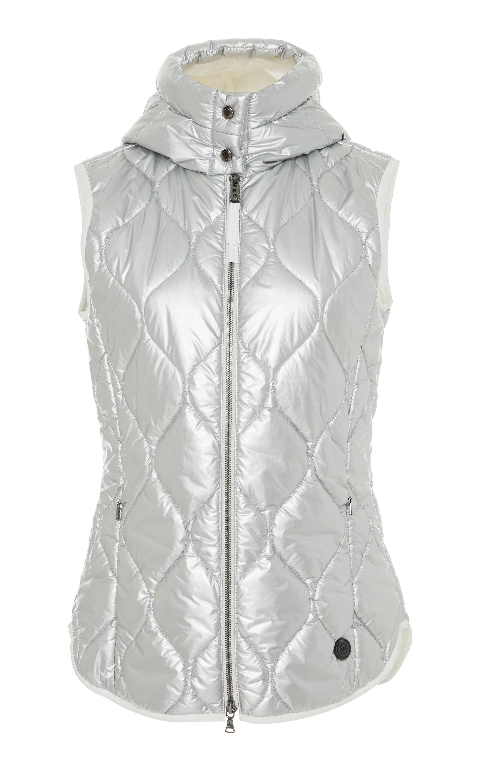 BOGNER X WHITE CUBE Gigi Metallic Quilted-Shell Hooded Vest