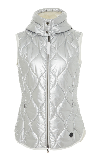 BOGNER X WHITE CUBE | Bogner x White Cube Gigi Metallic Quilted-Shell Hooded Vest | Goxip