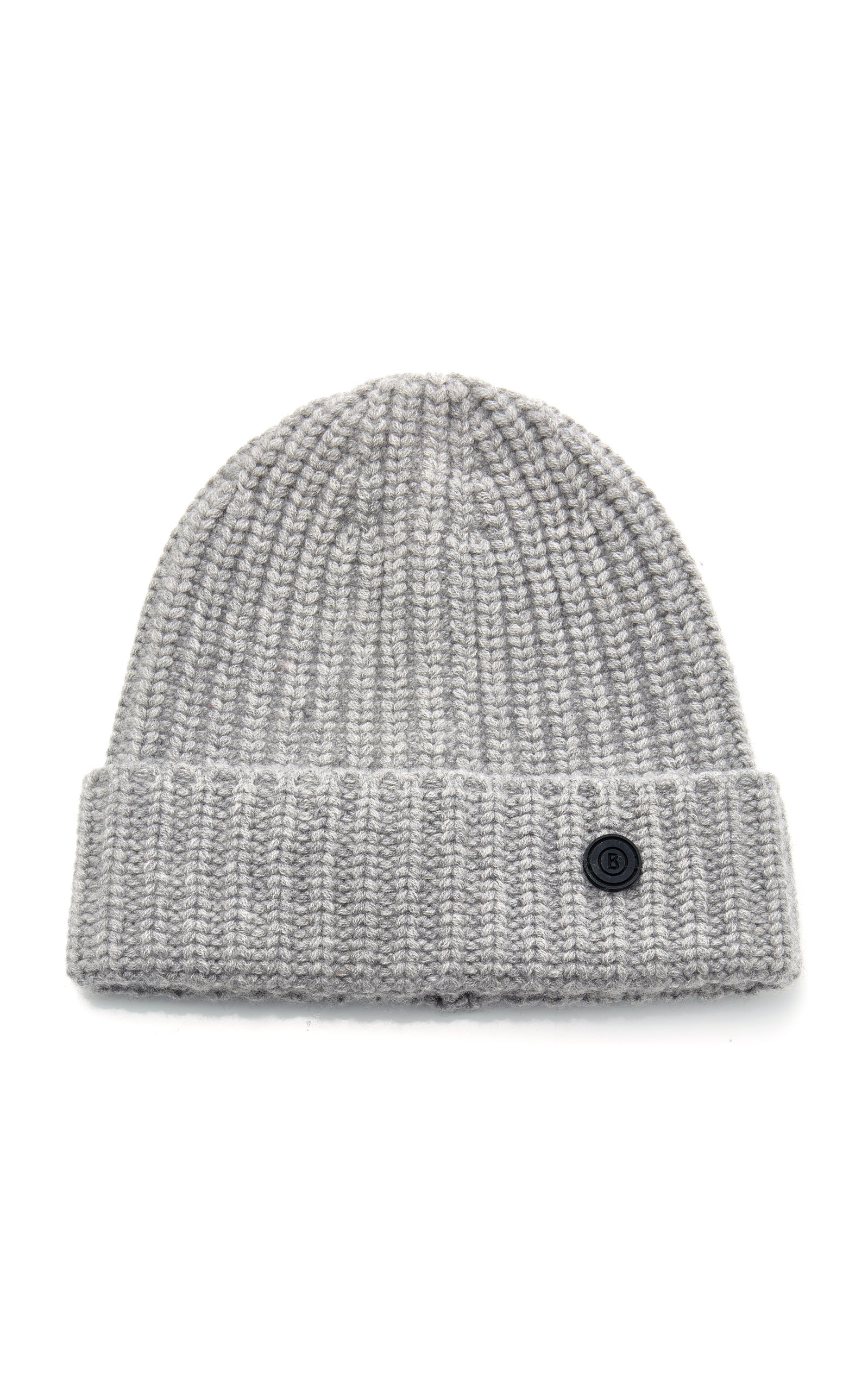 BOGNER X WHITE CUBE Candela Ribbed Cashmere Beanie in Grey