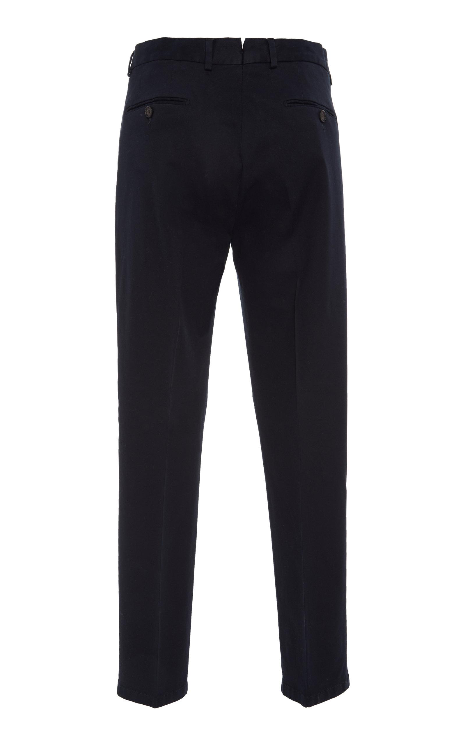 Eaton Slim-Fit Cotton-Twill Pants