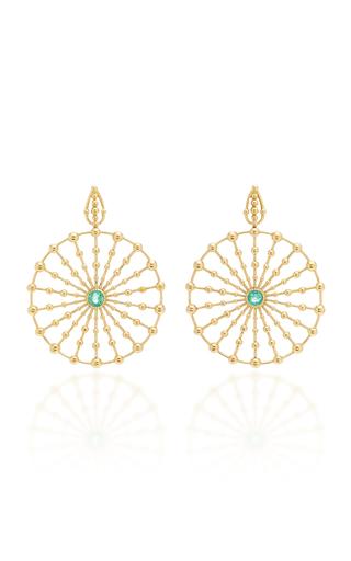 CARLA AMORIM | Carla Amorim Sempre Viva Maior Emeralds Earrings | Goxip