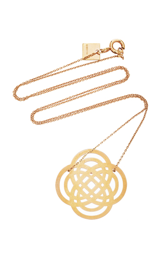 GINETTE NY | Ginette NY Baby Purity 18K Rose Gold Pendant Necklace | Goxip