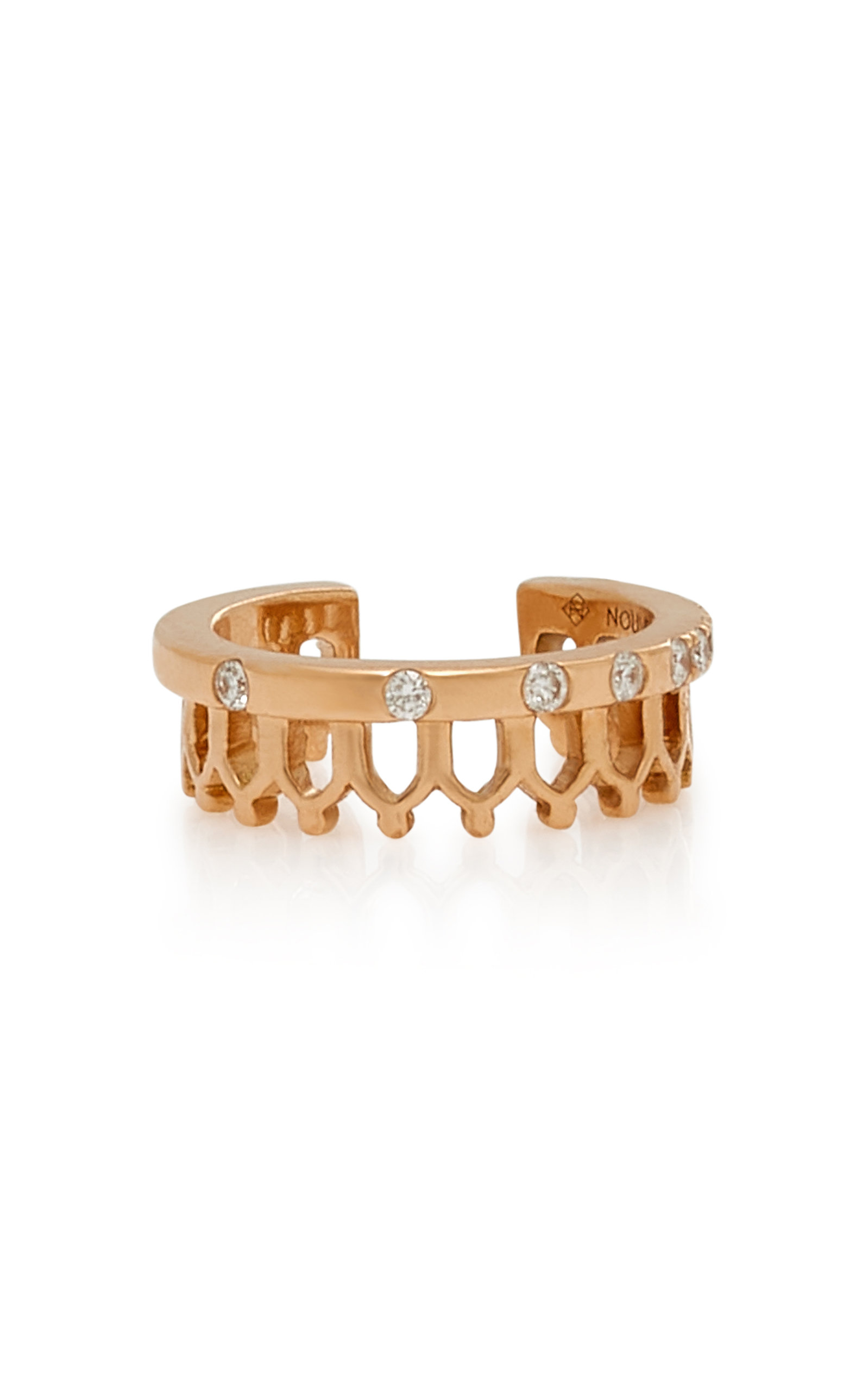 NOUVEL HERITAGE Simple Some 18K Rose Gold Diamond Ear Cuff