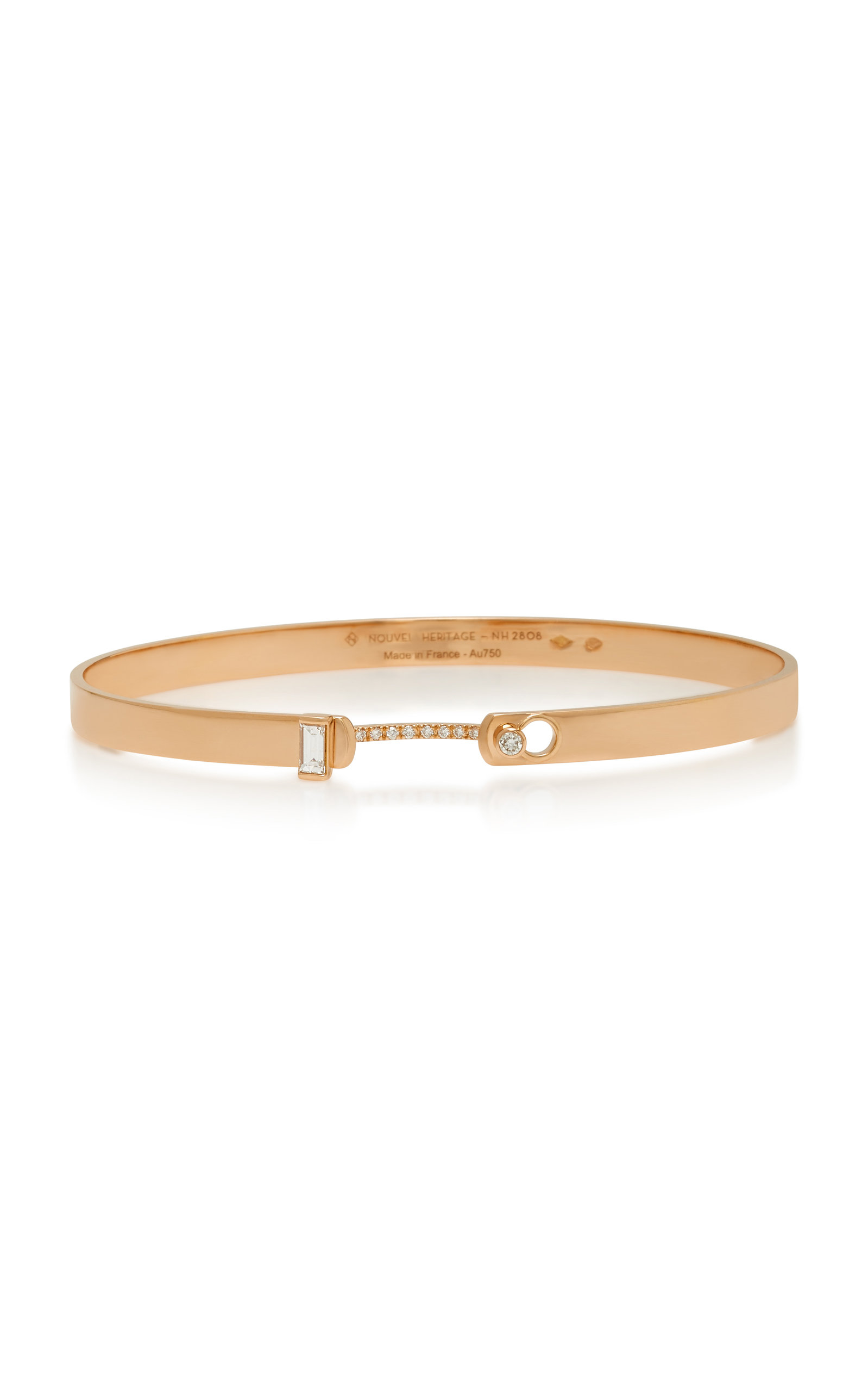 NOUVEL HERITAGE DINNER DATE 18K ROSE GOLD DIAMOND BANGLE