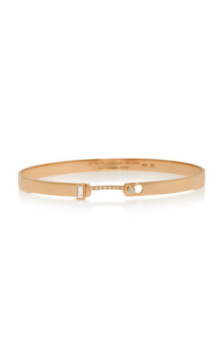 NOUVEL HERITAGE | Nouvel Heritage Dinner Date 18K Rose Gold Diamond Bangle | Goxip