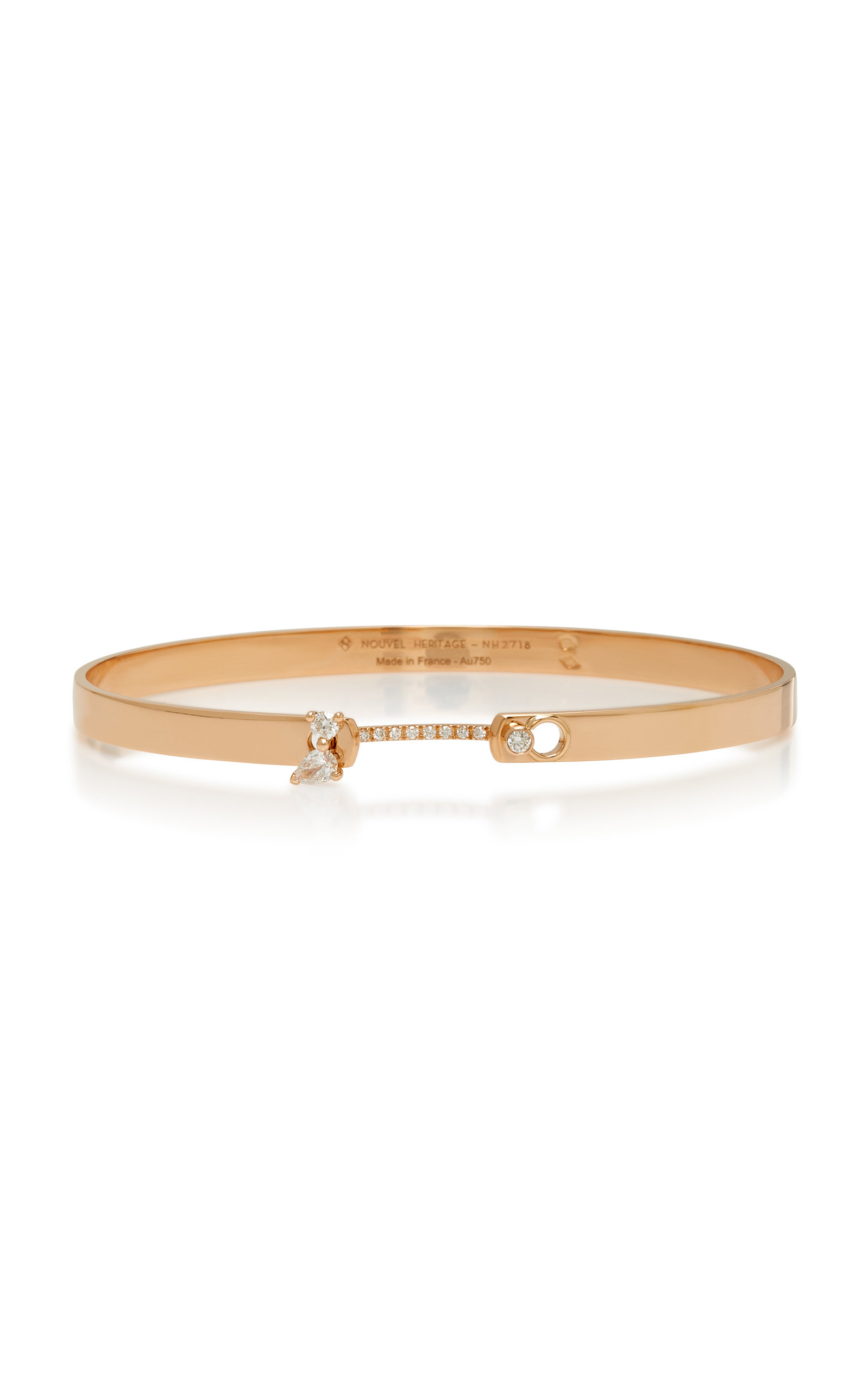 NOUVEL HERITAGE COCKTAIL TIME 18K ROSE GOLD DIAMOND BANGLE