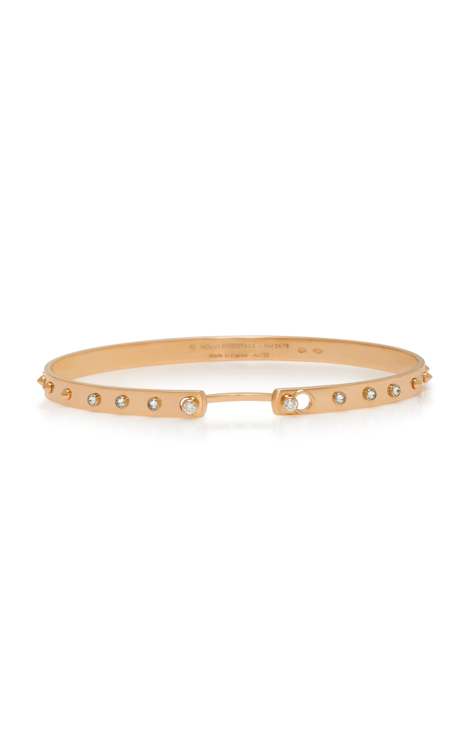 NOUVEL HERITAGE Brunch In Ny 18K Rose Gold Diamond Bangle