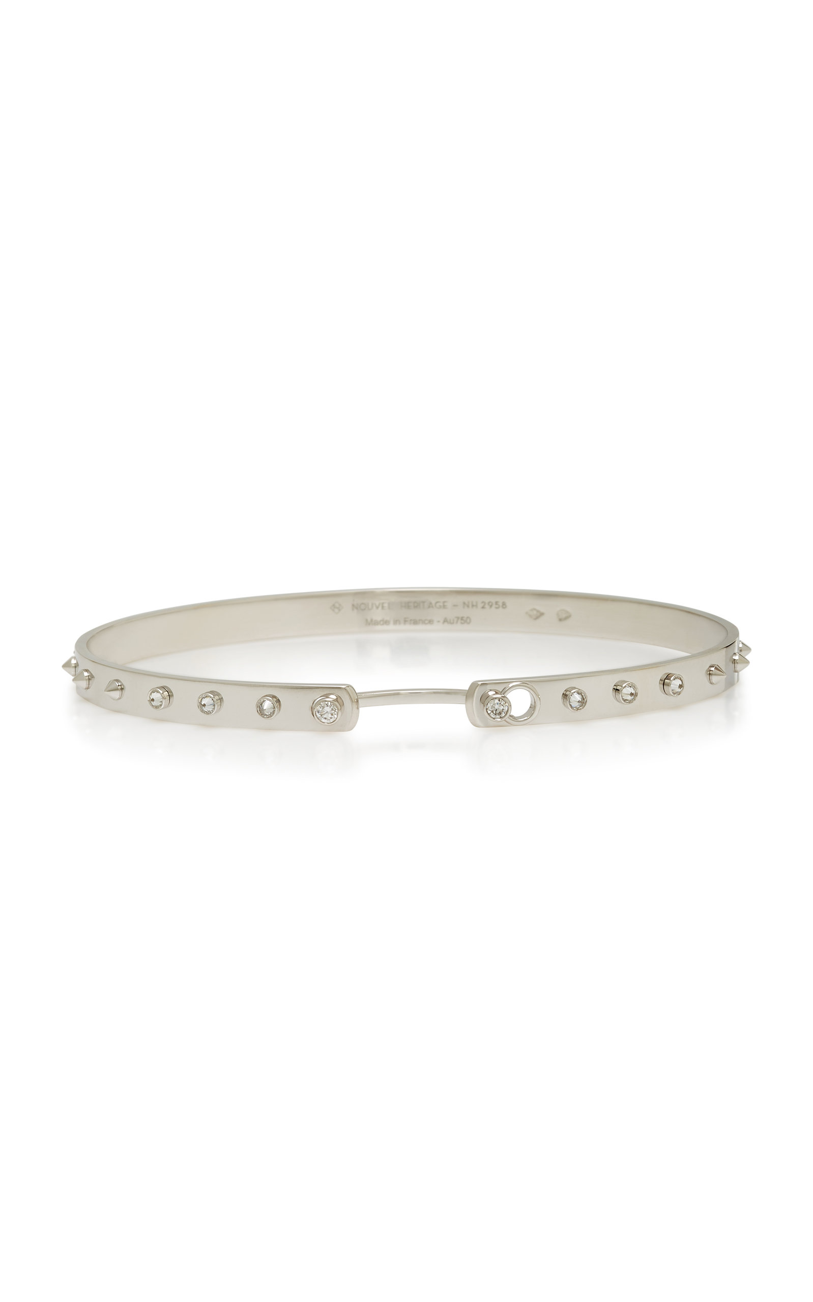 NOUVEL HERITAGE BRUNCH IN NY 18K WHITE GOLD DIAMOND BANGLE