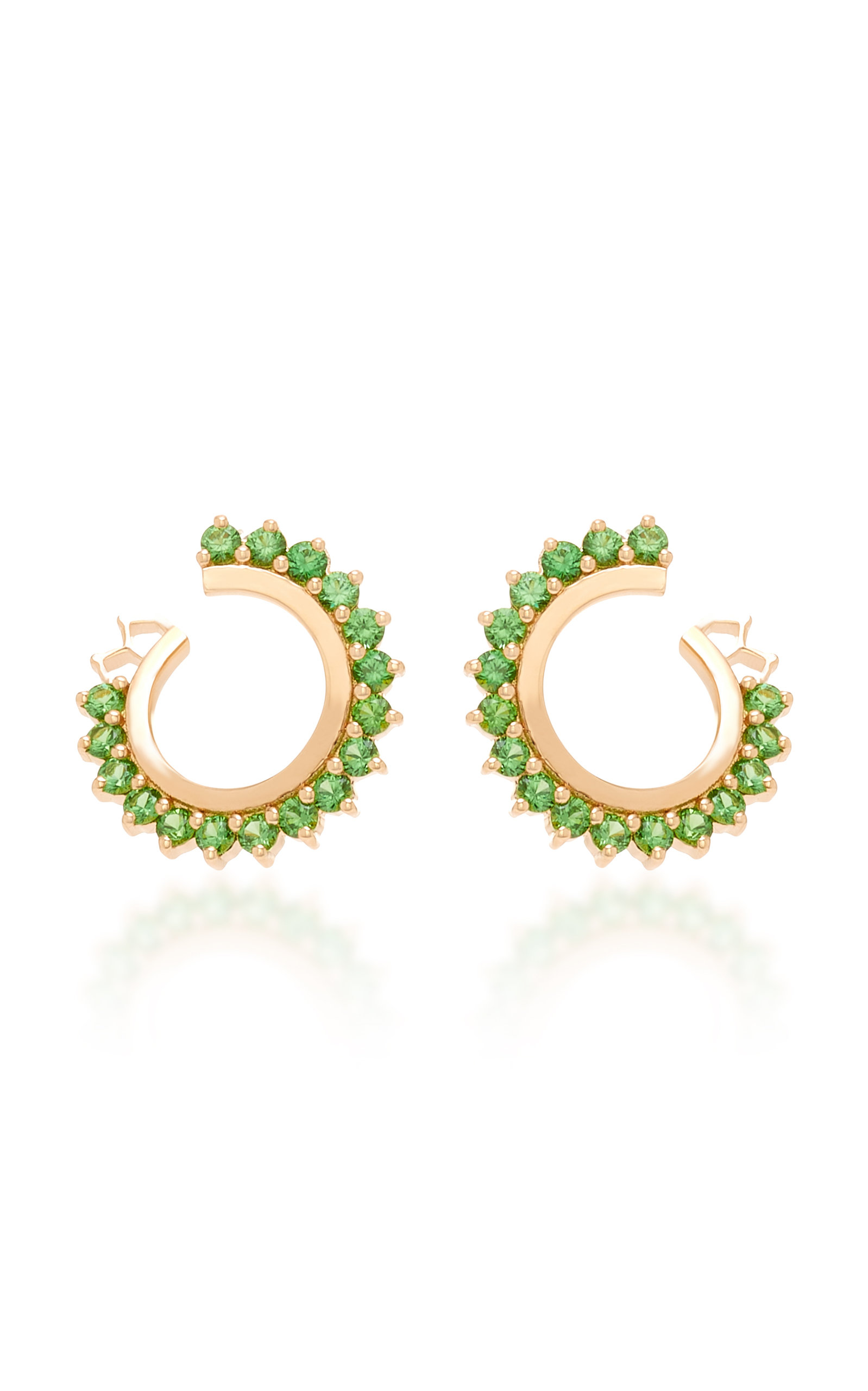 NOUVEL HERITAGE 18K ROSE GOLD TSAVORITE EARRINGS