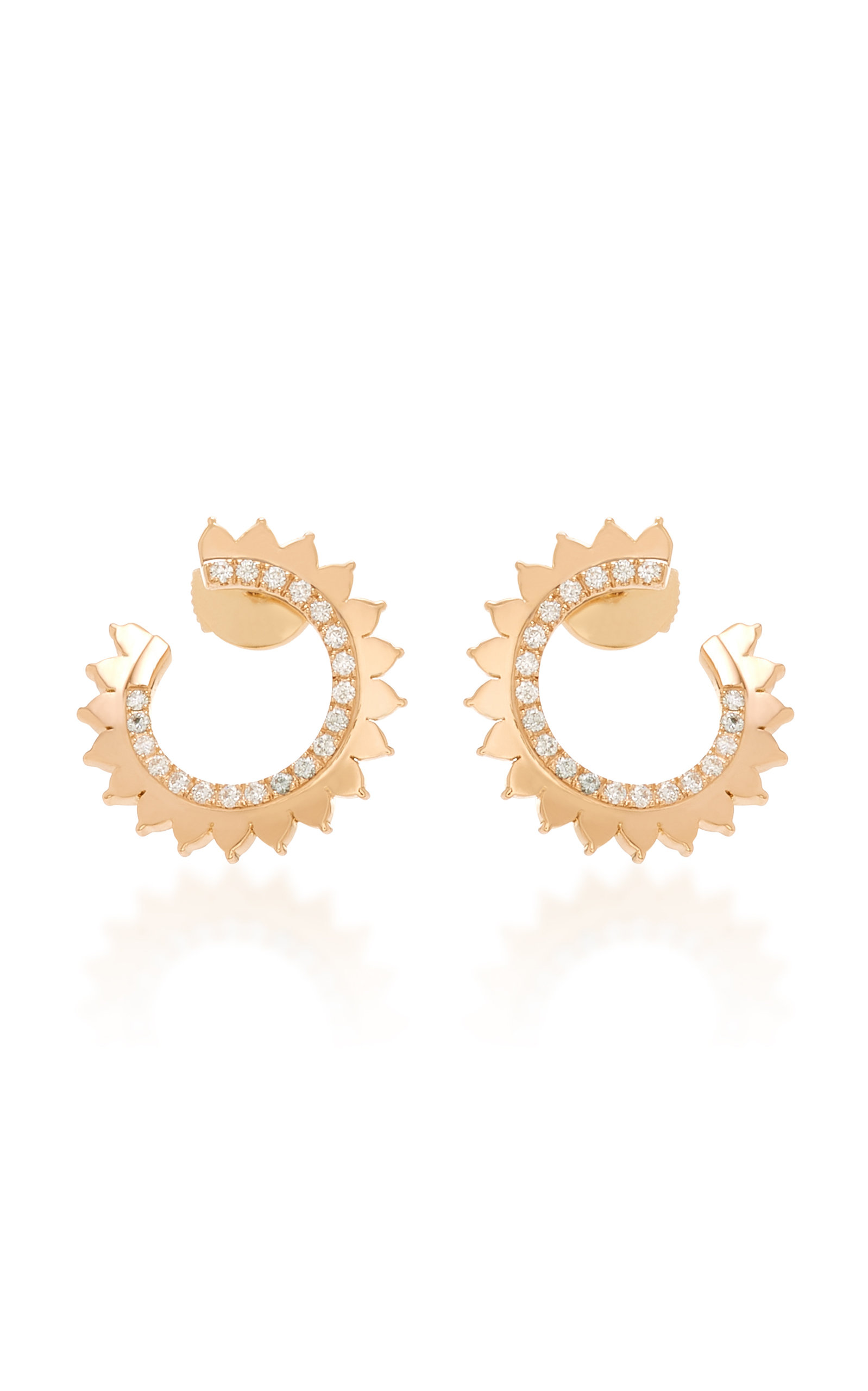 VENDOME 18K ROSE GOLD DIAMOND EARRINGS