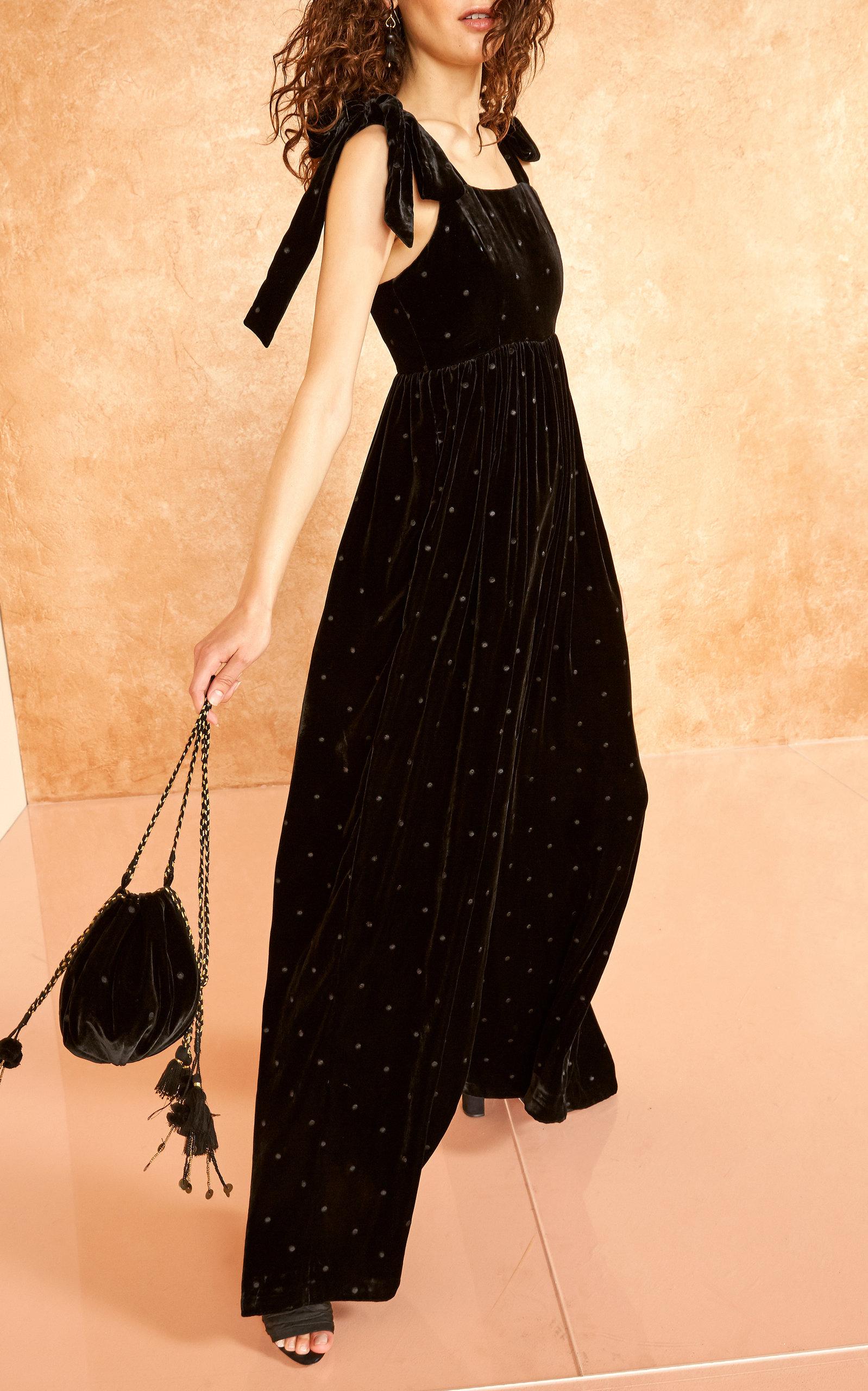 5f21460e16af Ulla JohnsonMinnet Embroidered Velvet Jumpsuit. CLOSE. Loading. Loading.  Loading. Loading
