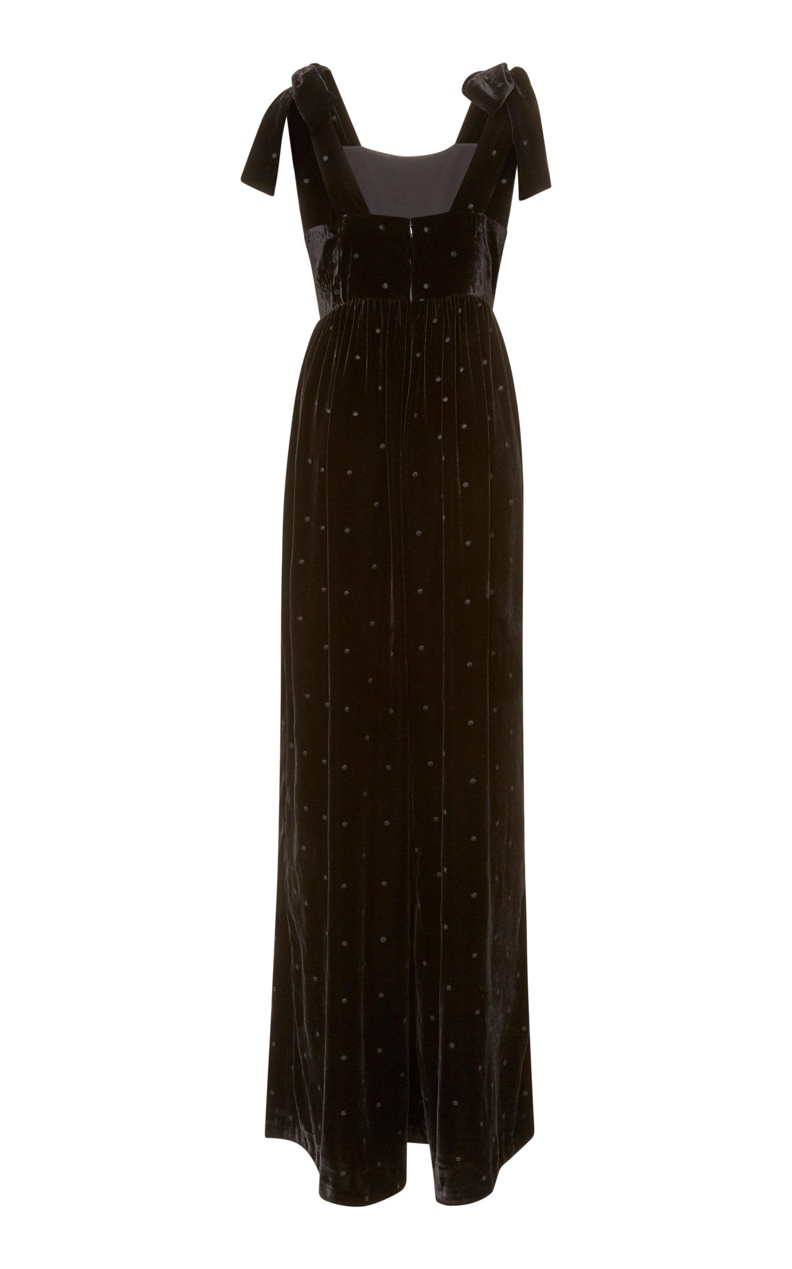 6b22db9f68ca Ulla Johnson Minnet Embroidered Velvet Jumpsuit In Black