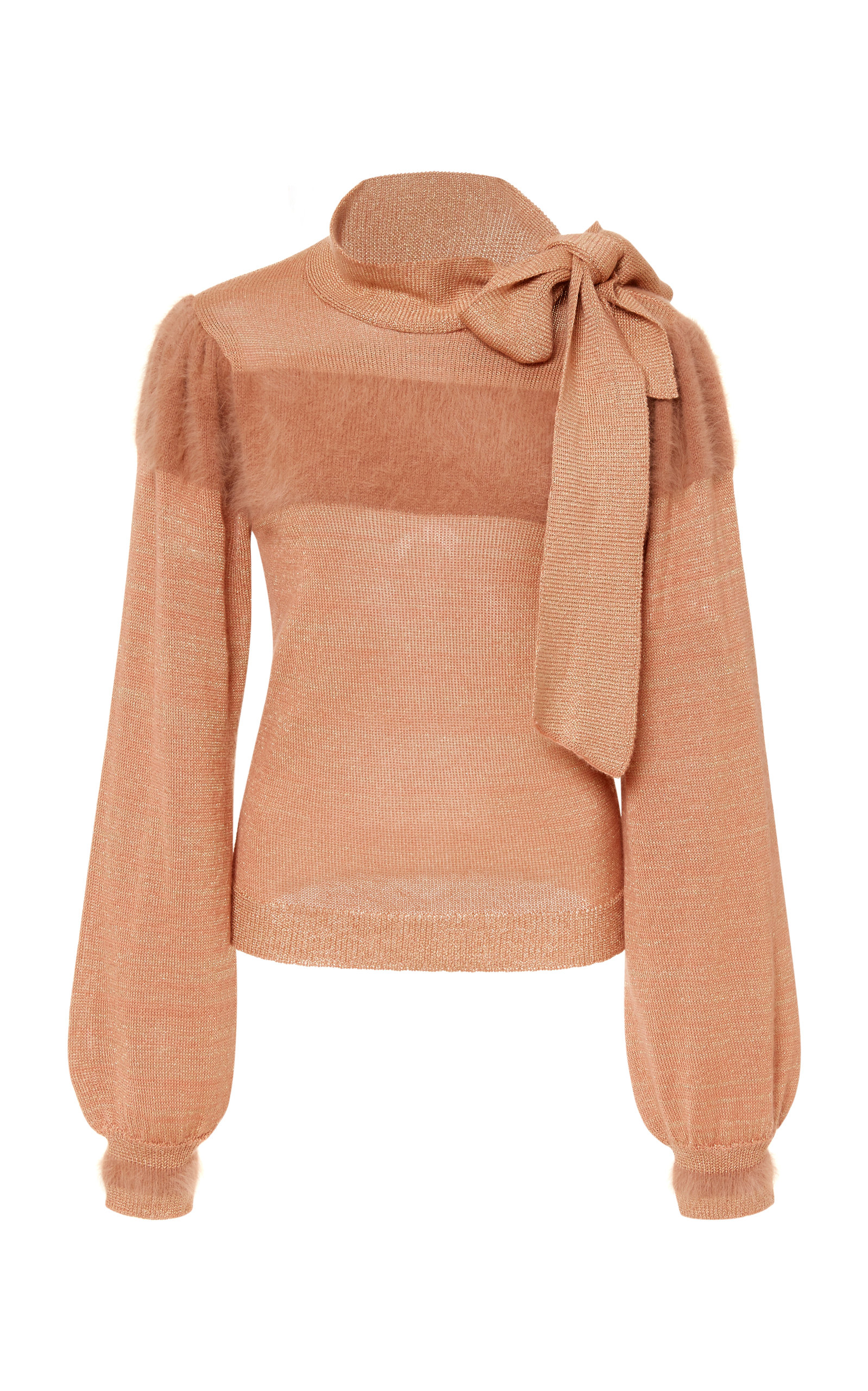 Fabia Neck Tie Pullover in Pink