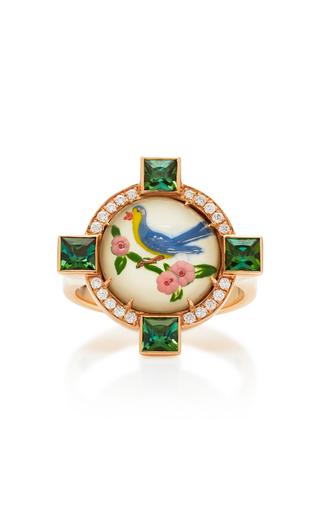 FRANCESCA VILLA | Francesca Villa One-Of-A-Kind Being Crystal Blue Bird Ring | Goxip