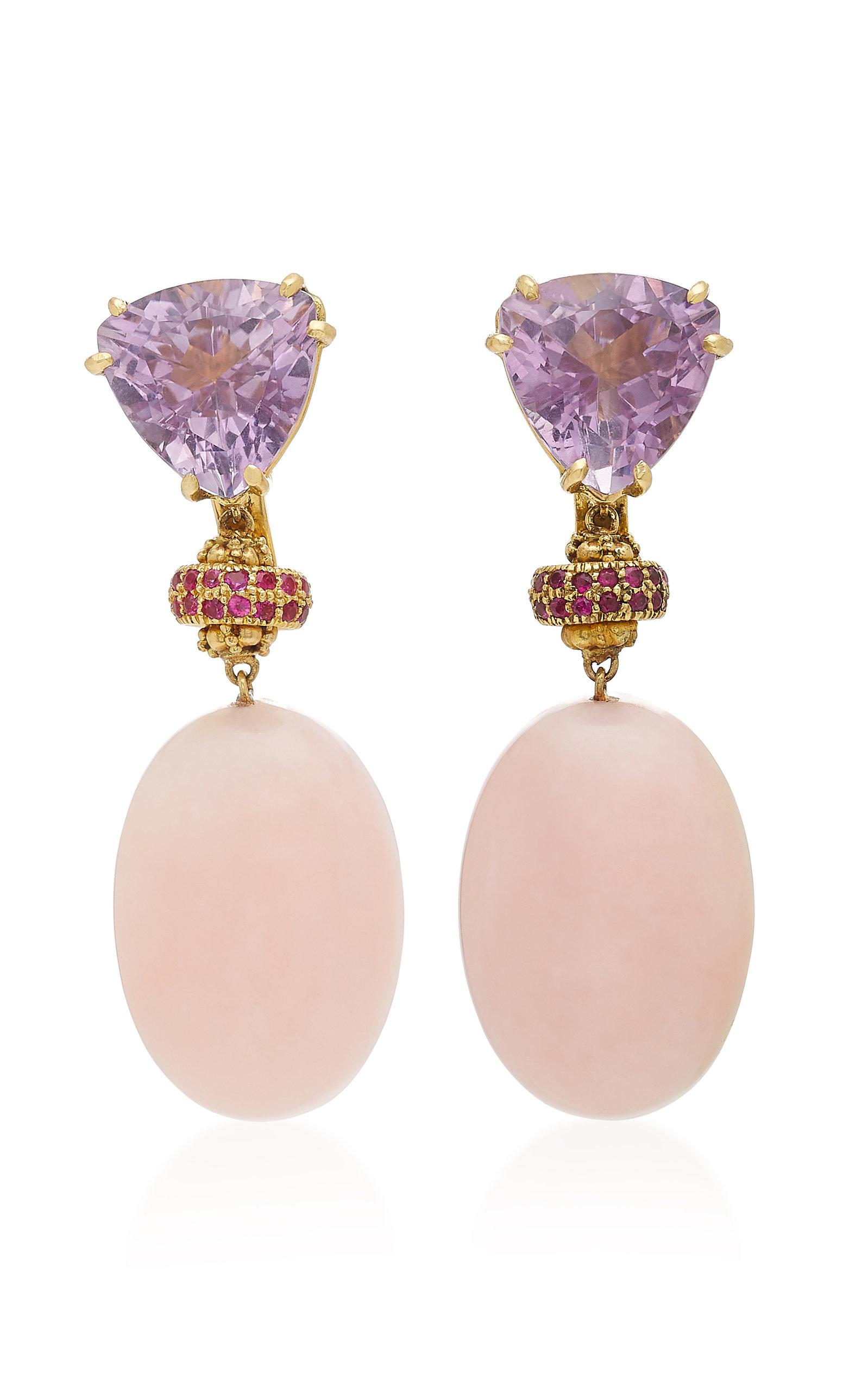 SORAB & ROSHI 18K Gold Multi-Stone Clip Earrings