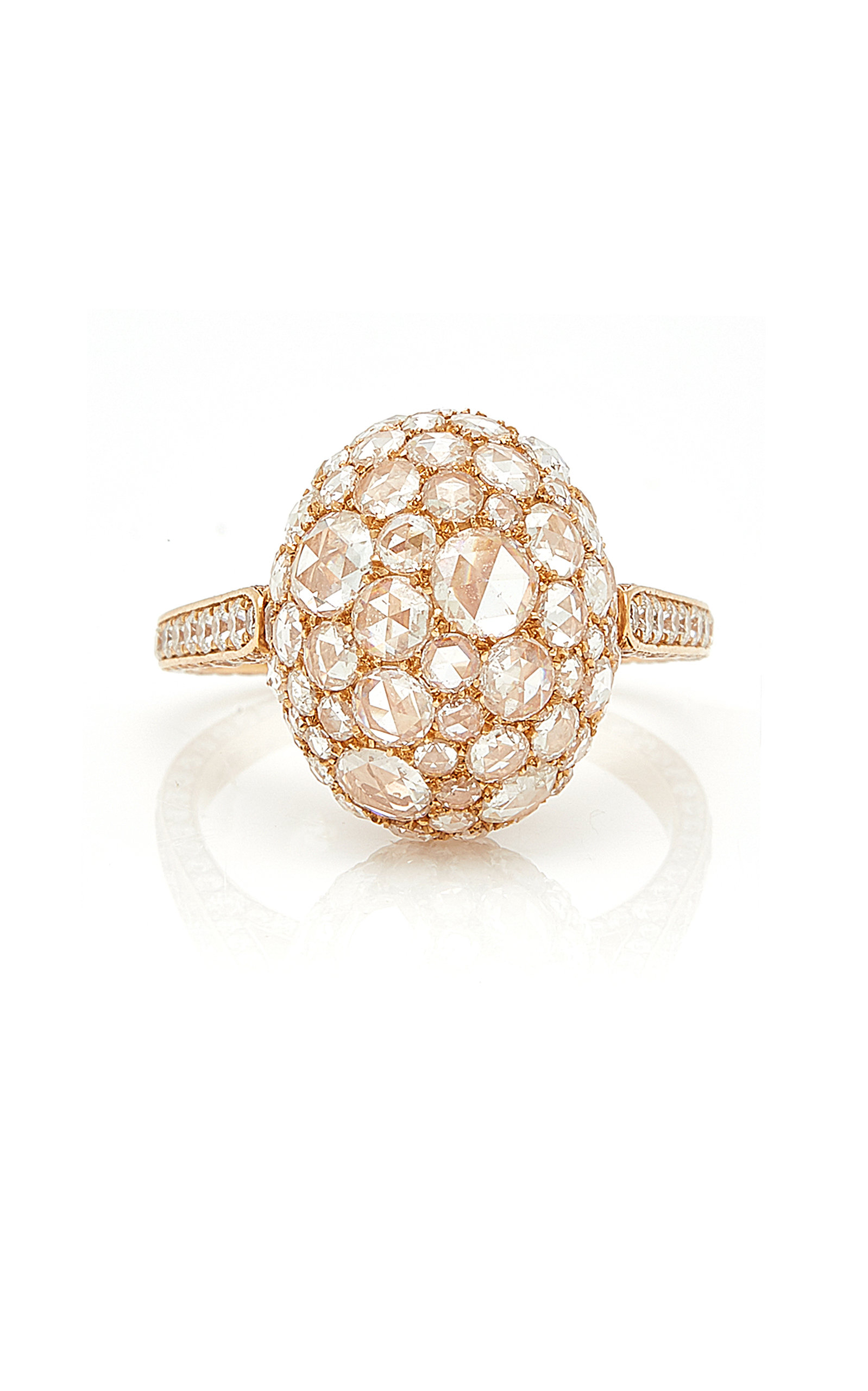 SIDNEY GARBER Rosebud Rose Gold Ring in Pink