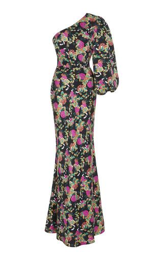 b13c6c1b458 Self Portrait One Shoulder Plumetis Maxi Dress is sold out. Shop Similar  Items. Les Rêveries. Petal Sleeve Silk Dress.  630.  378. Only 2 Left