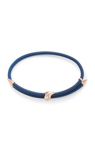 BEA BONGIASCA | Bea Bongiasca Heliconia 9K Rose Gold and Leather Bracelet | Goxip