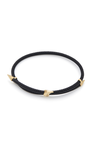 BEA BONGIASCA | Bea Bongiasca Heliconia 9K Gold and Leather Bracelet | Goxip