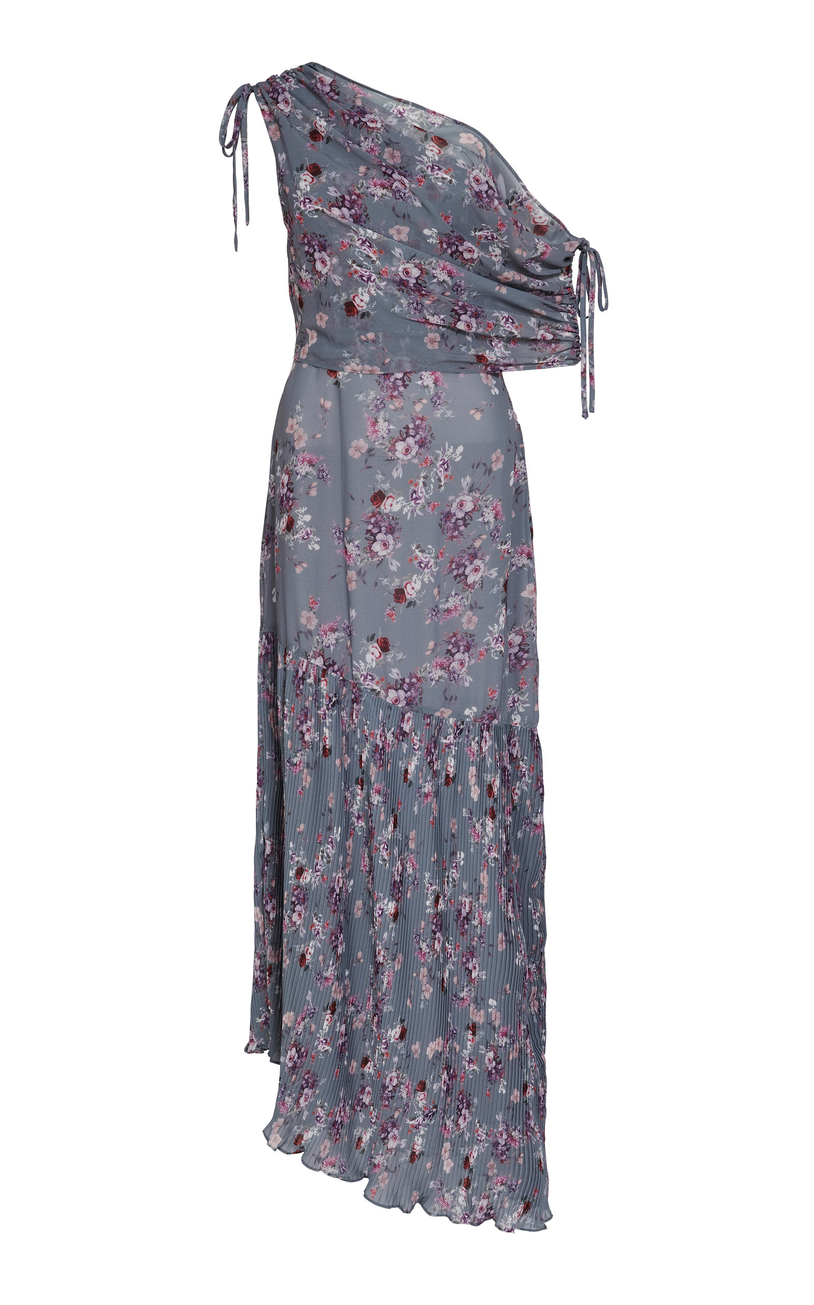 WE ARE KINDRED Antoinette Pleated Asymmetric Dress in Floral