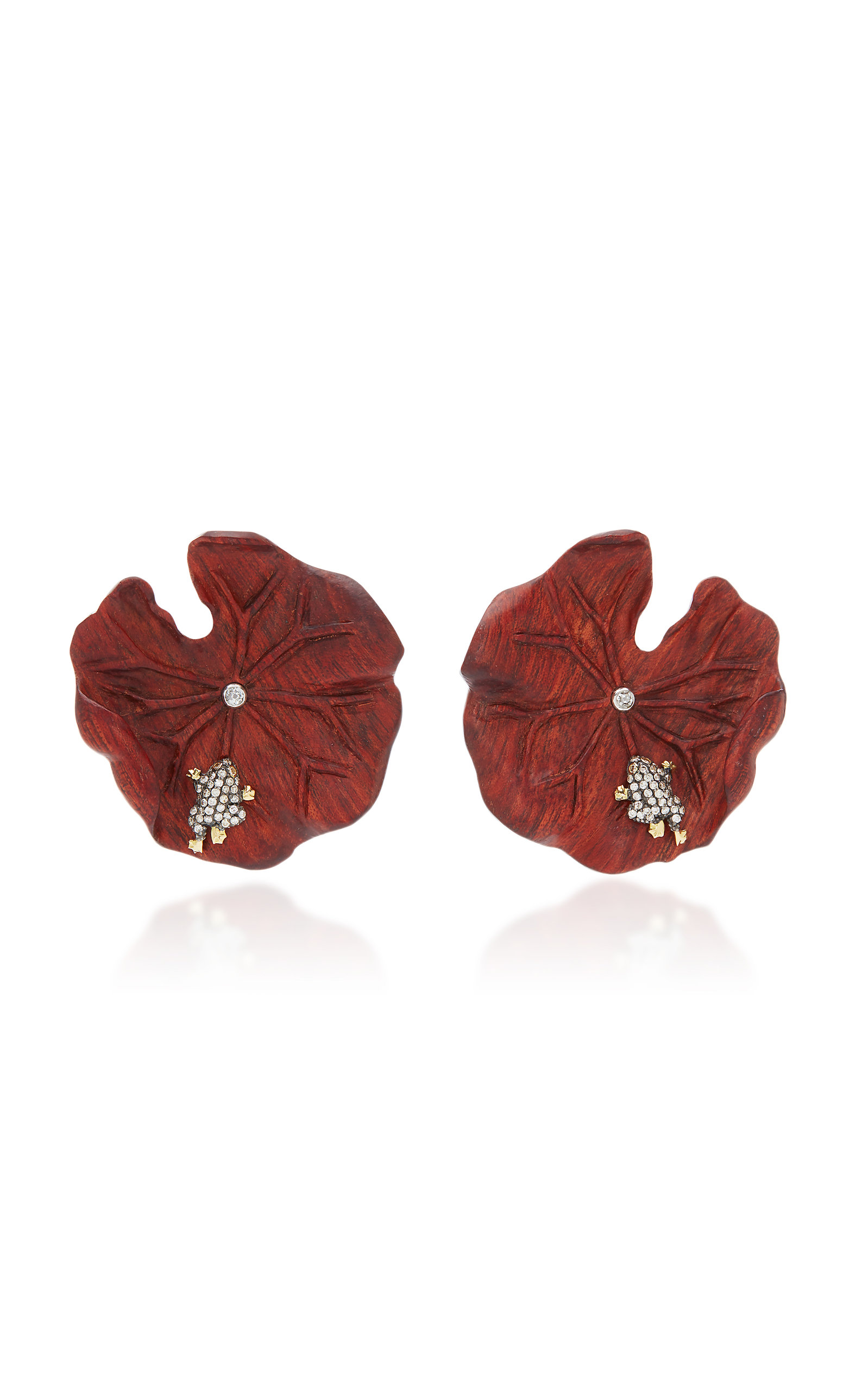 MO Exclusive: Marquetry Leaf Earrings Silvia Furmanovich f2rq9BkONd