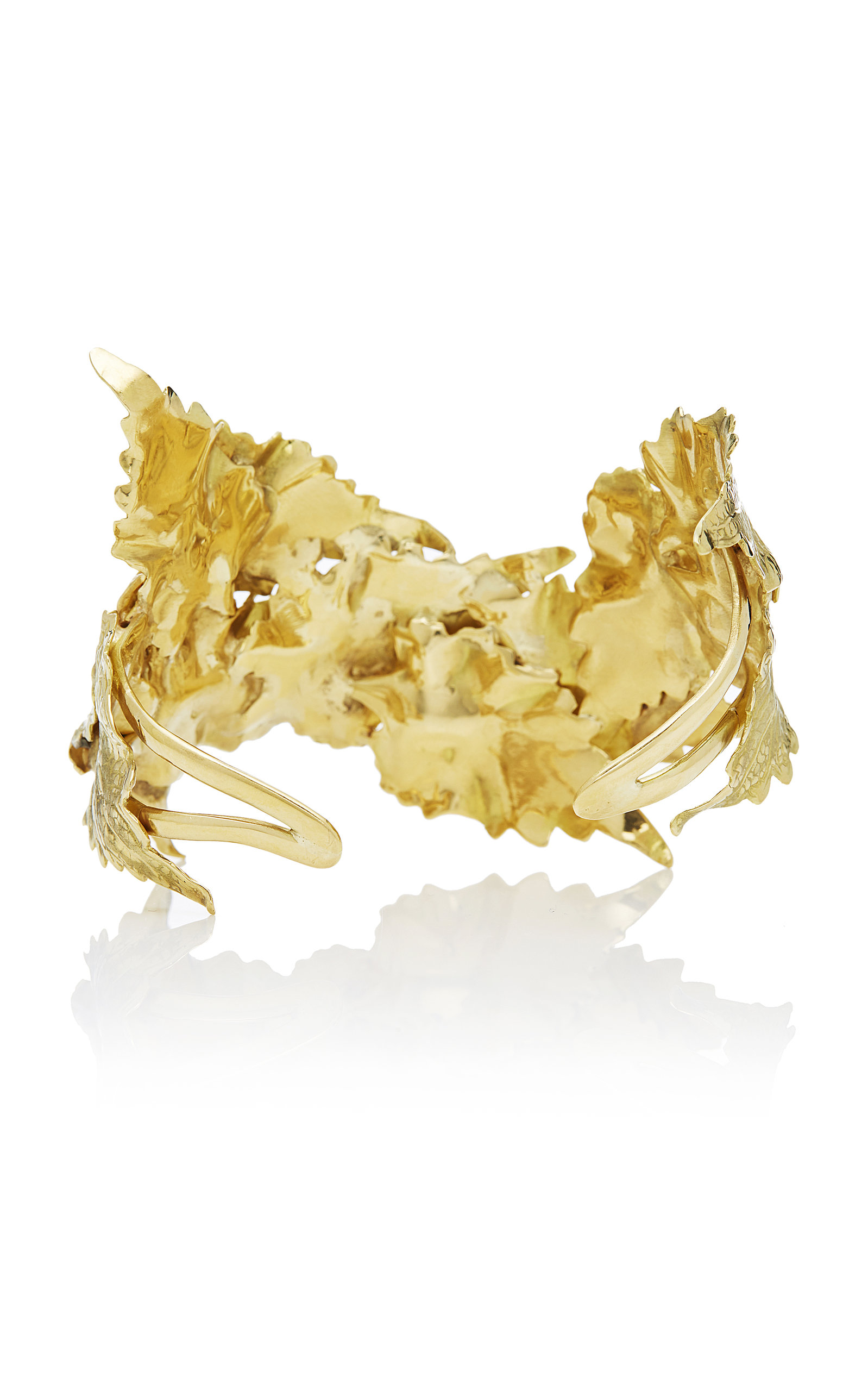 MO Exclusive: Gold Leaf Bracelet Ana Khouri 93o3e