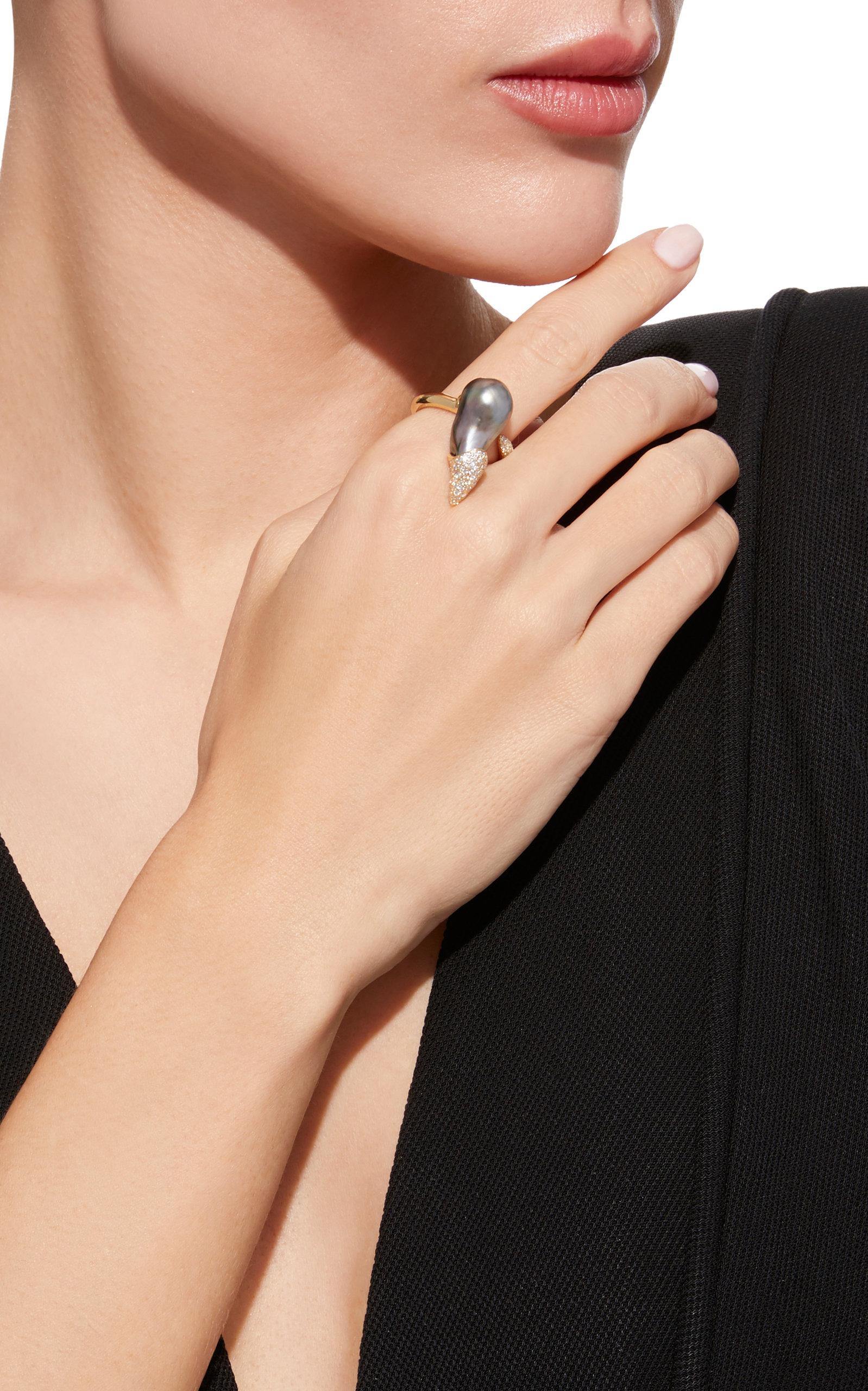 One-Of-A-Kind Black Tahitian Talon Ring Mizuki qYrQIBoVf