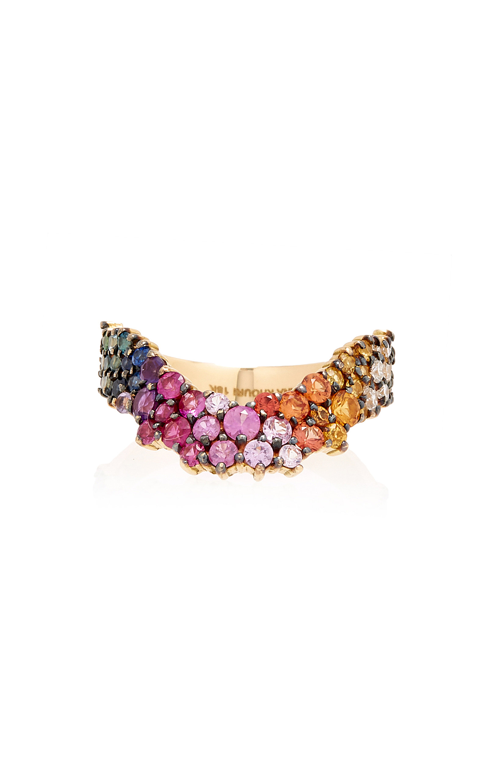 66f2436568 Multicolor Simplicity Ring by Ana Khouri