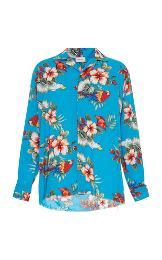 RHUDE | RHUDE Birds Of Paradise Hawaiian Long-Sleeve Shirt | Goxip