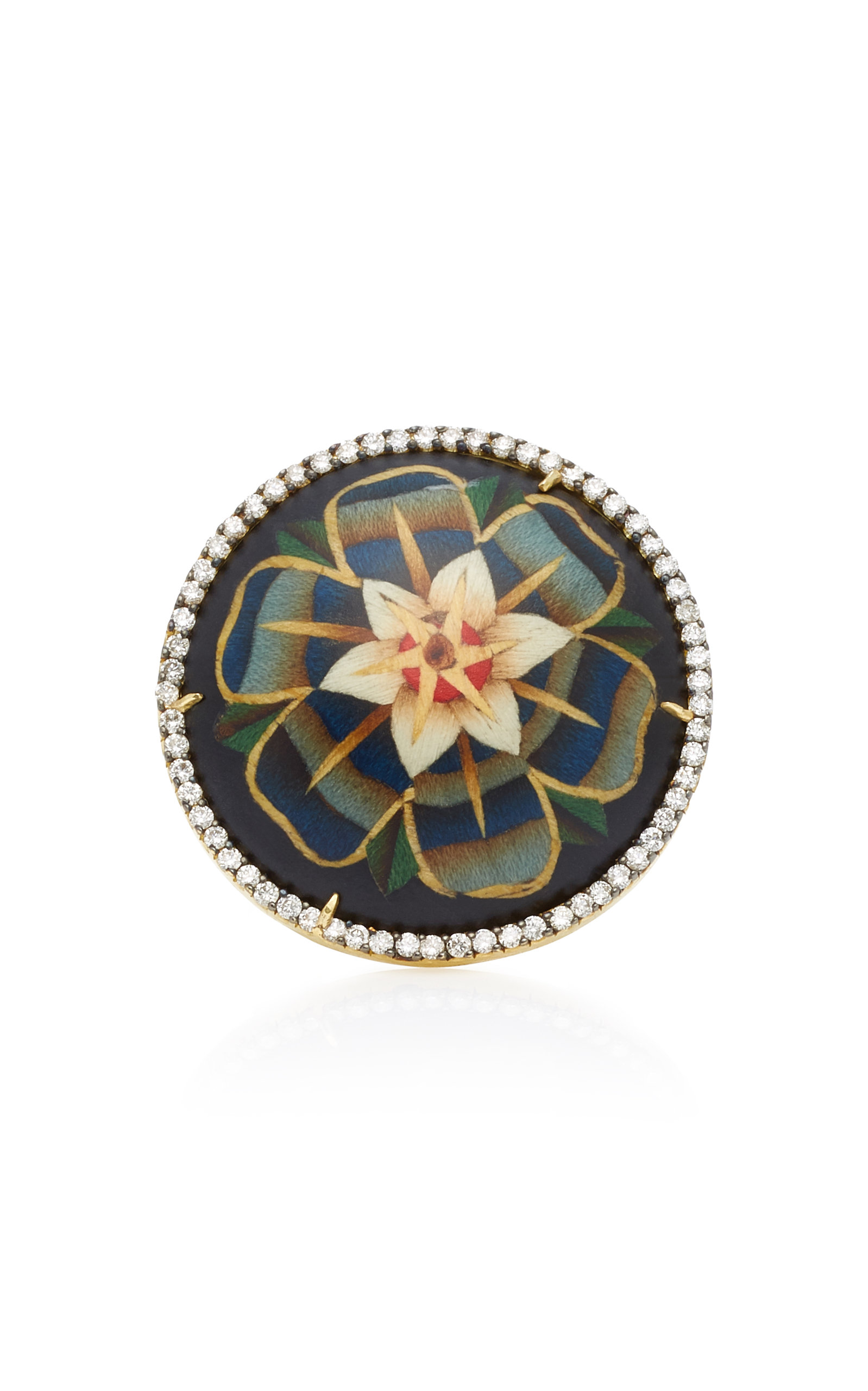 Marquetry Flower Ring Silvia Furmanovich