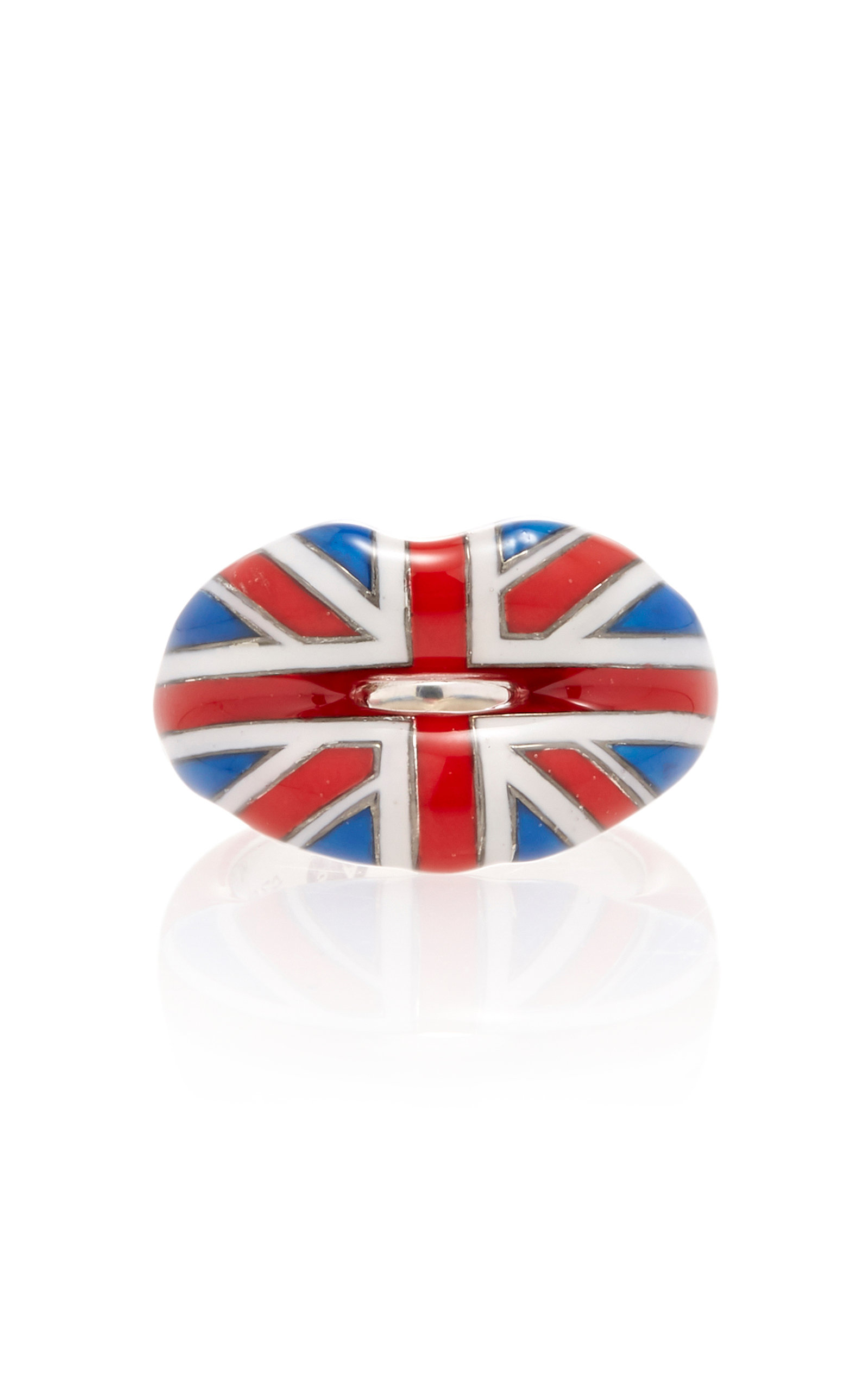 UNION JACK HOTLIPS RING