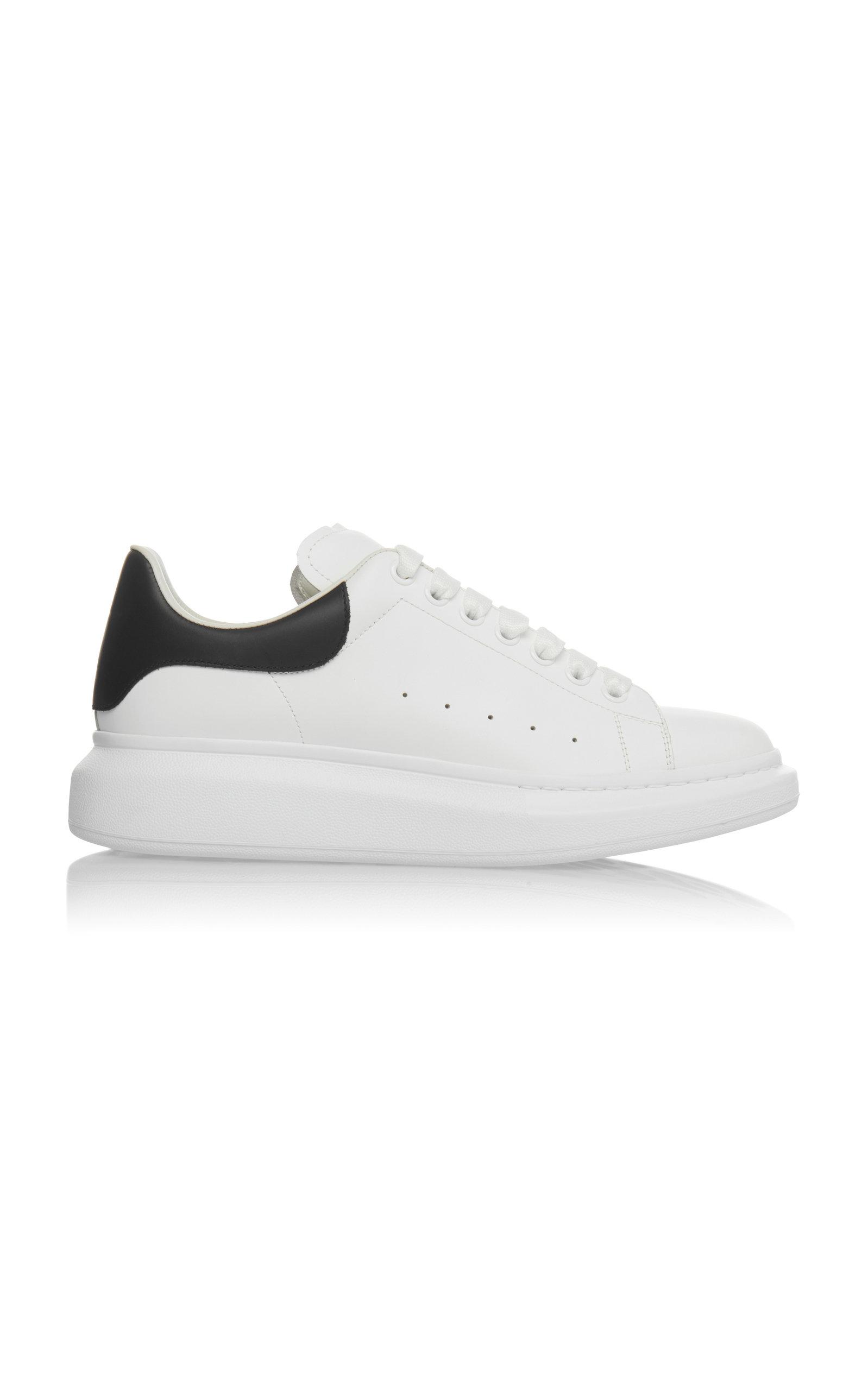 ALEXANDER MCQUEEN   Alexander McQueen Leather Low-Top Sneakers   Goxip