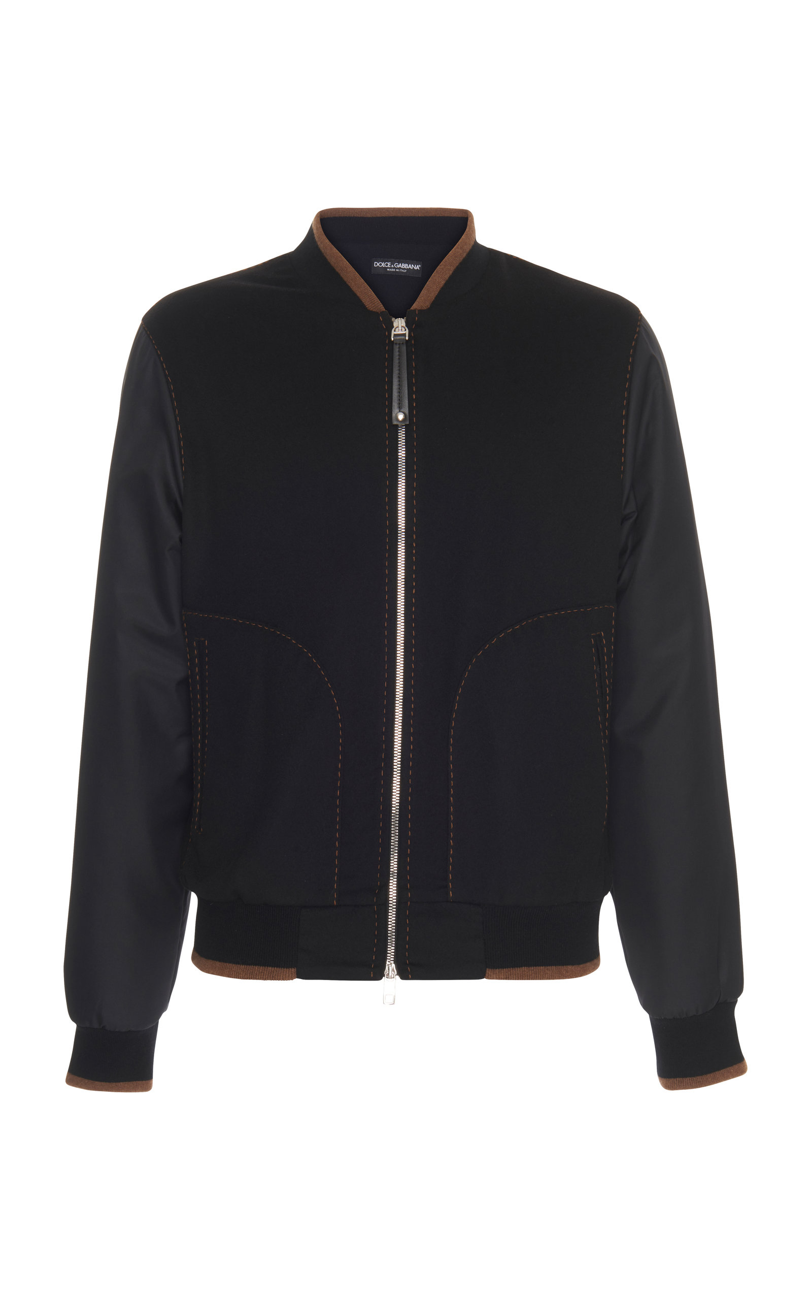 Bomber Cashmere Dolce Leather Jacket Amp; Reversible Trimmed Gabbana wHgtqXH