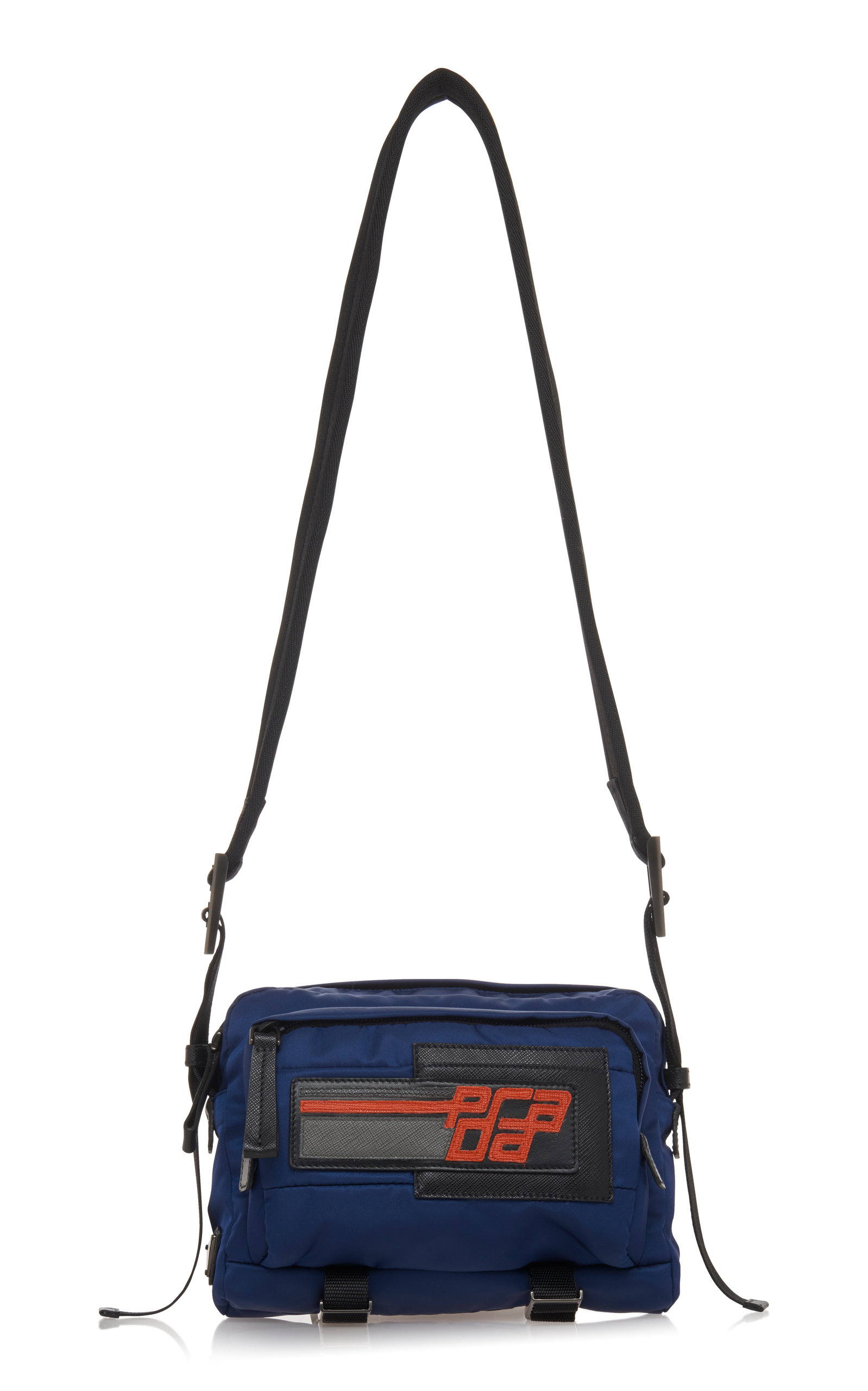 9bf926954331 Blue Nylon Quilted Camera Bag by Prada | Moda Operandi