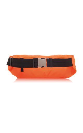 38698a991c8958 PradaOrange Nylon Hip Bag With Rubber Logo