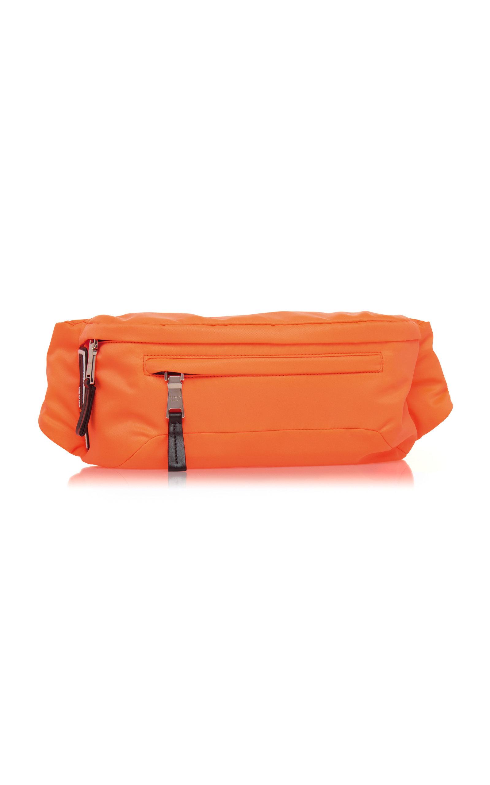 f08b285dd569 Prada Orange Nylon Hip Bag With Rubber Logo