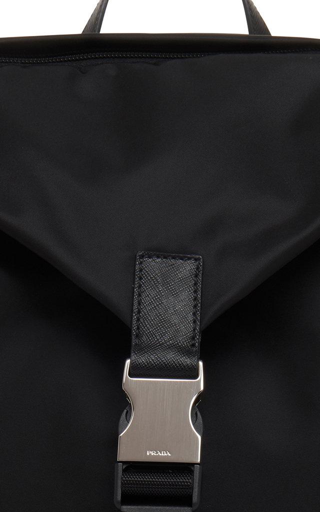 c819c230f Black Nylon Backpack With Buckle Closure by Prada | Moda Operandi