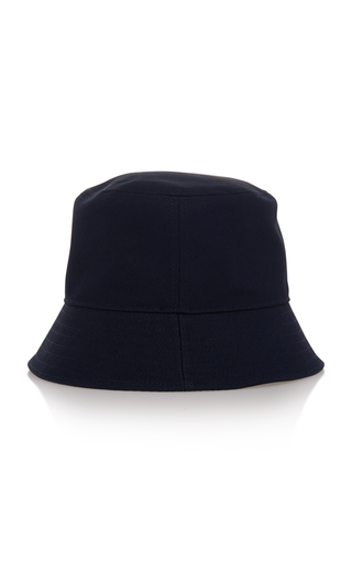 4045d23189402 Savoy Navy Canvas Bucket Hat by Prada | Moda Operandi