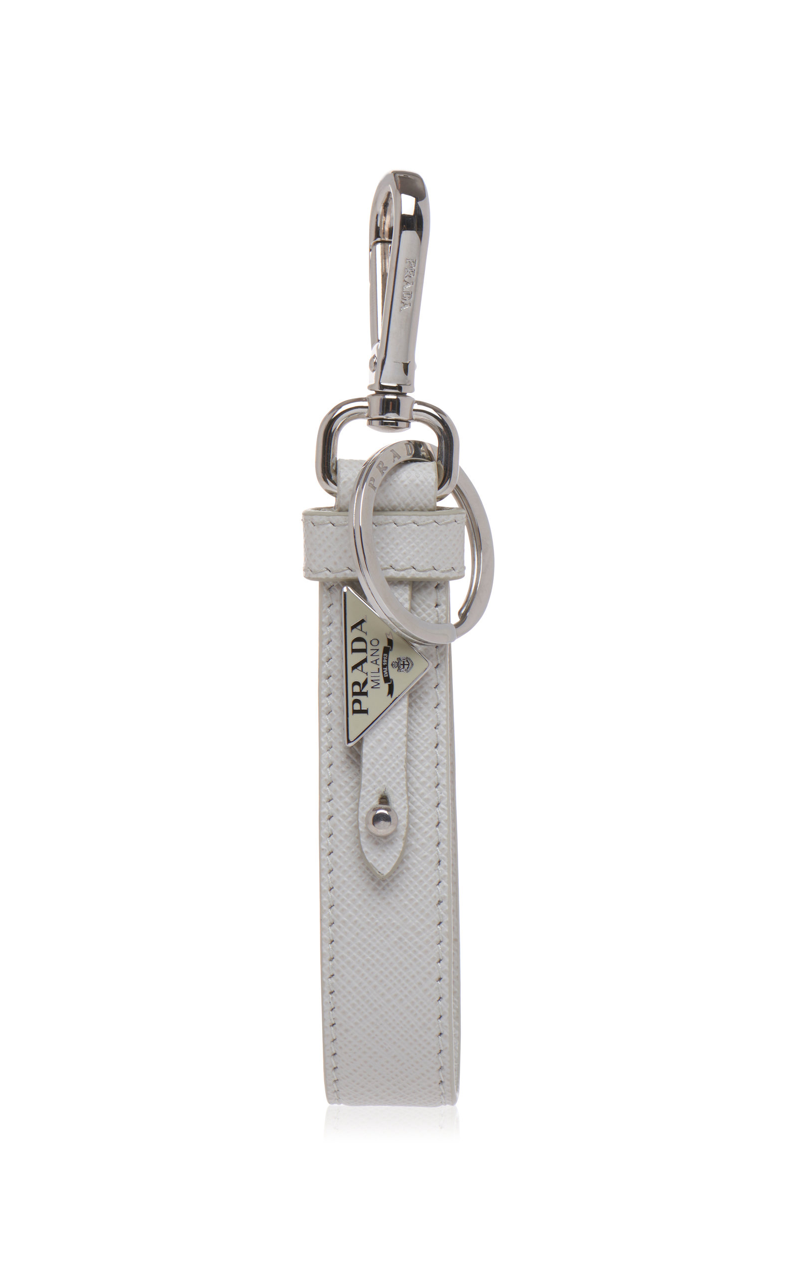 9b5404c638c Leather Double Logo Keychain by Prada | Moda Operandi