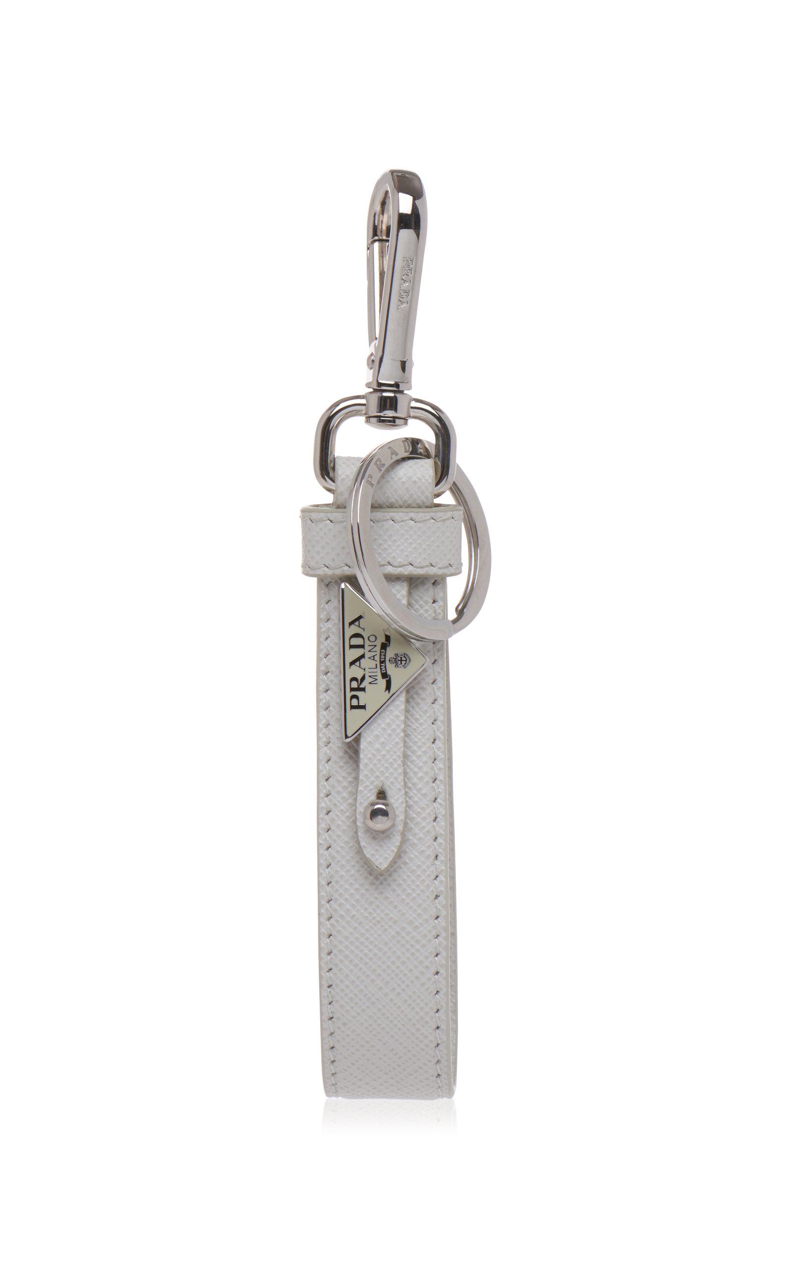 9b5404c638c Leather Double Logo Keychain by Prada   Moda Operandi